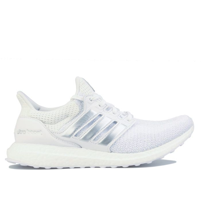 Men's adidas Ultraboost DNA Running Shoes in White silver