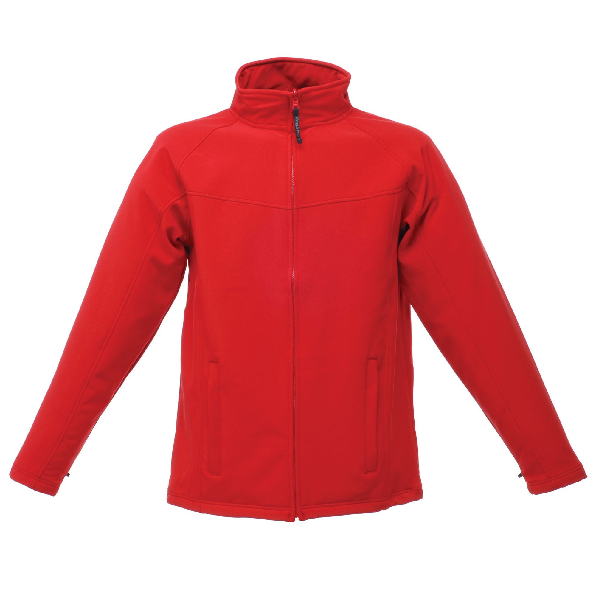 Regatta Mens Uproar Lightweight Wind Resistant Softshell Jacket (Classic Red/Seal Grey)