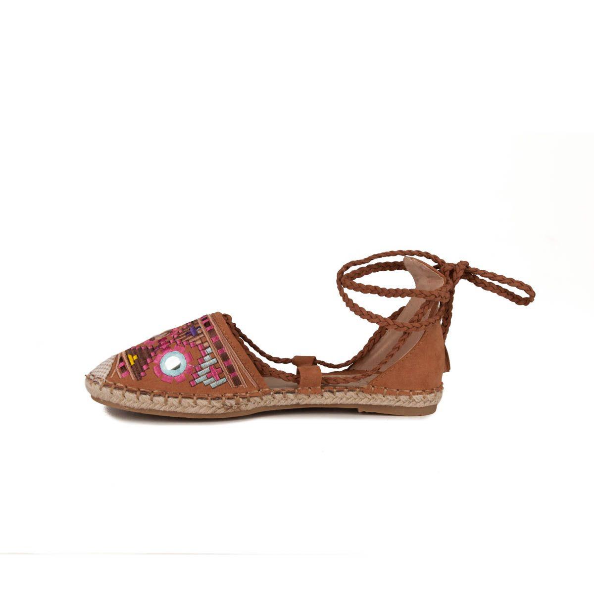 Montevita Flat Sandal in Camel