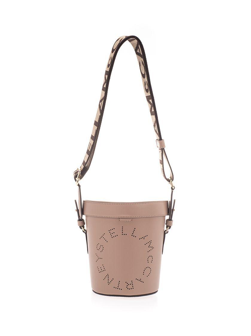 STELLA MCCARTNEY WOMEN'S 700016W85422800 PINK LEATHER SHOULDER BAG