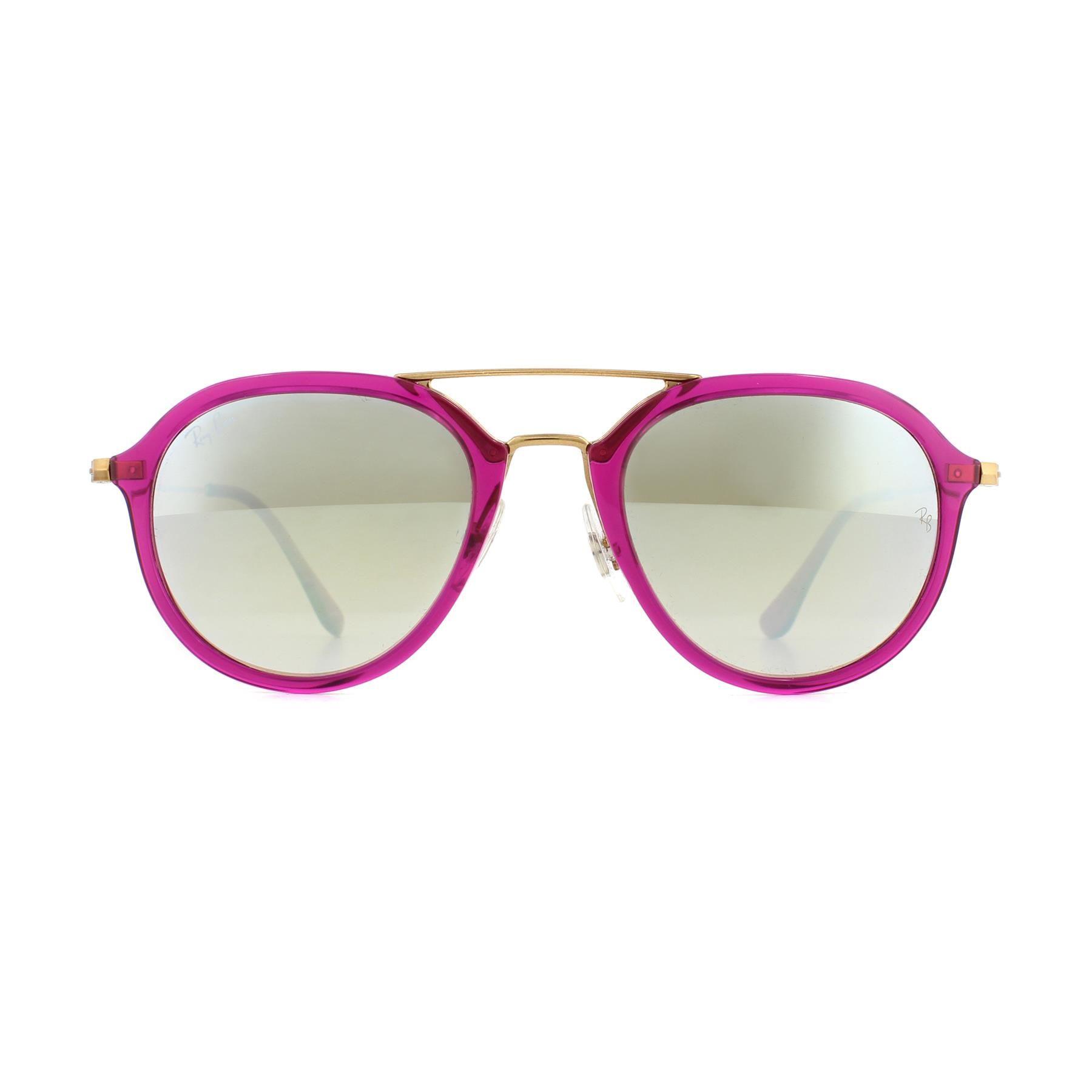 Ray-Ban Sunglasses 4253 62359U Purple Reddish Bronze Copper Silver Gradient Mirror