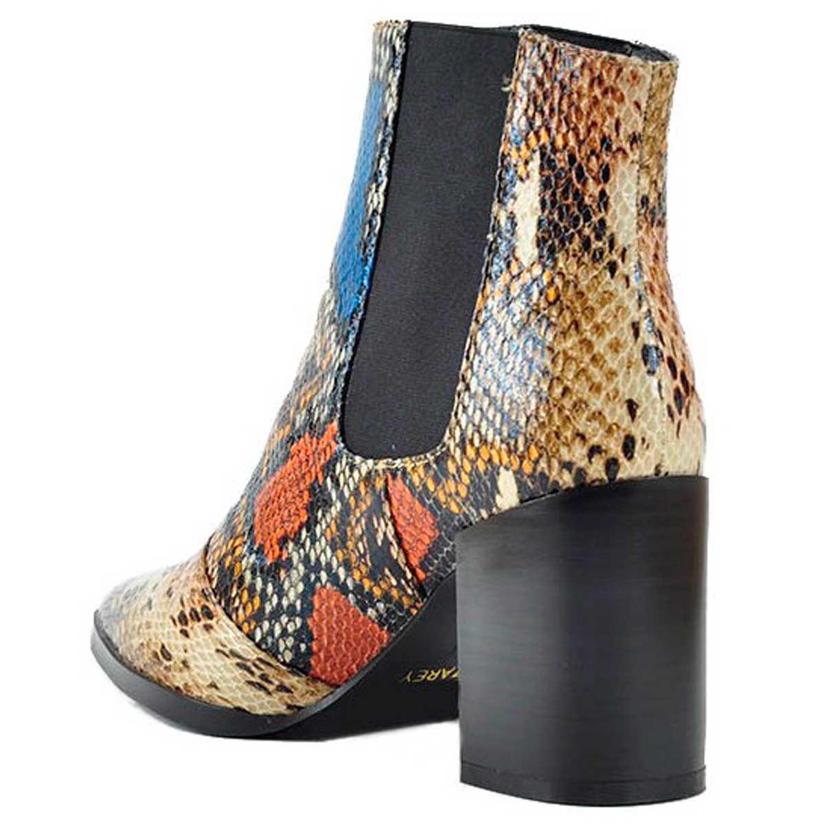 Montevita Heeled Ankle Boot in Multicolour Snake
