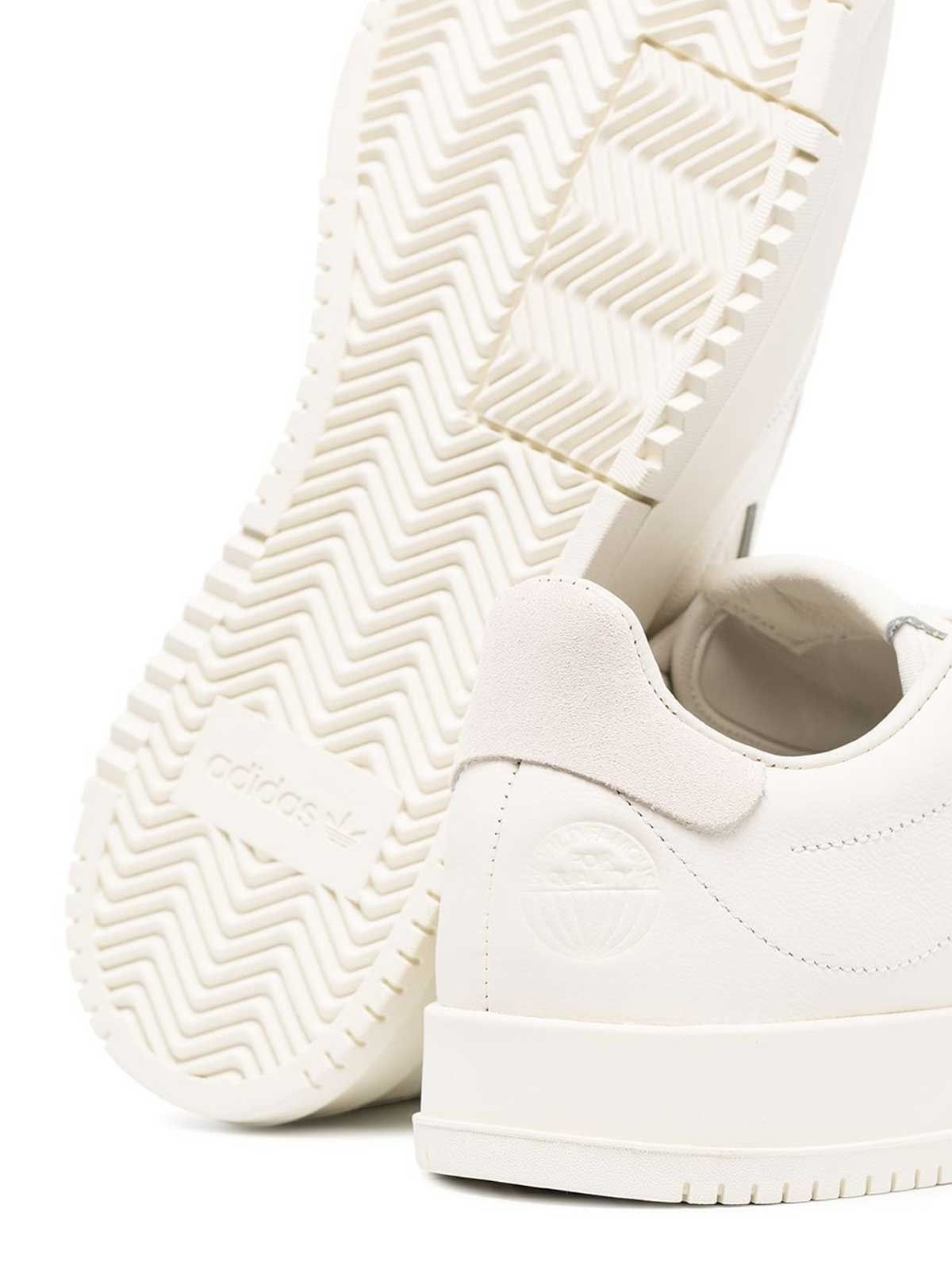 ADIDAS MEN'S EF5902 WHITE LEATHER SNEAKERS