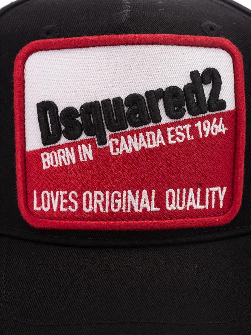 DSQUARED2 MEN'S BCM027605C000012124 BLACK COTTON HAT