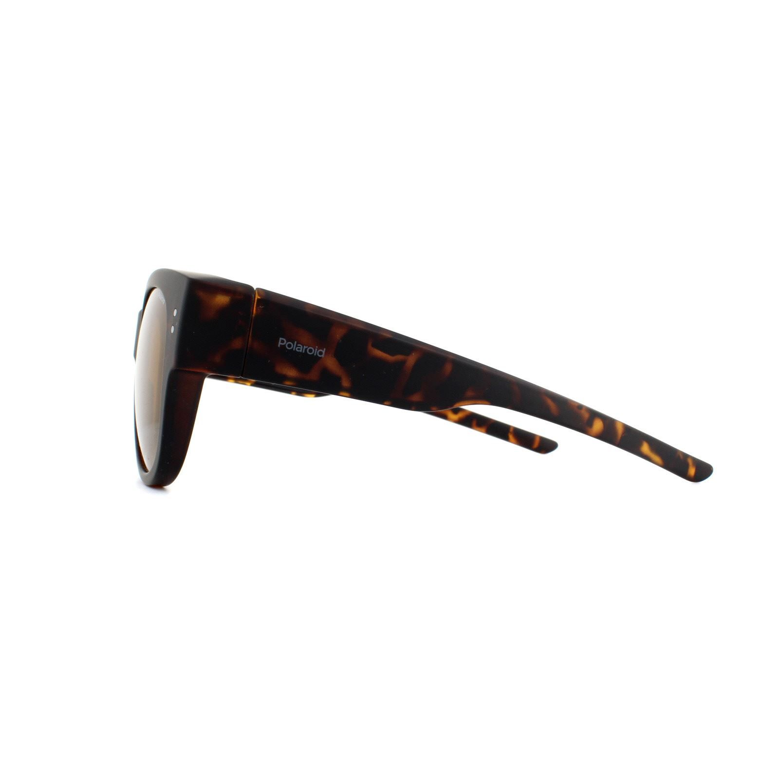 Polaroid Suncovers Fitover Sunglasses PLD 9009/S N9P MU Matte Havana BrownPolarized