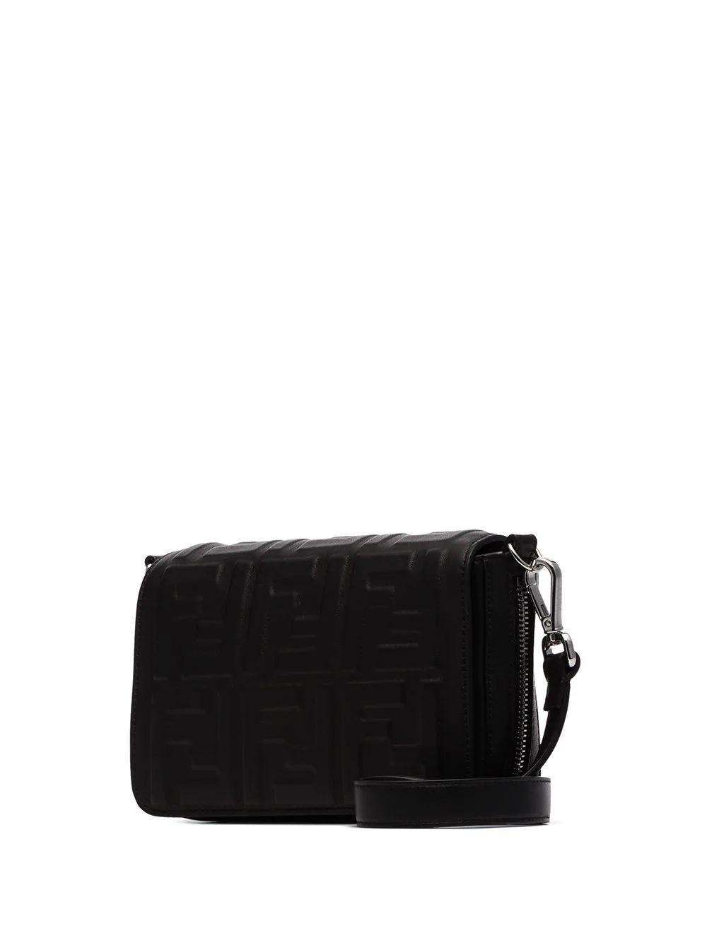 FENDI MEN'S 7M0299A72VF0GXN BLACK LEATHER MESSENGER BAG