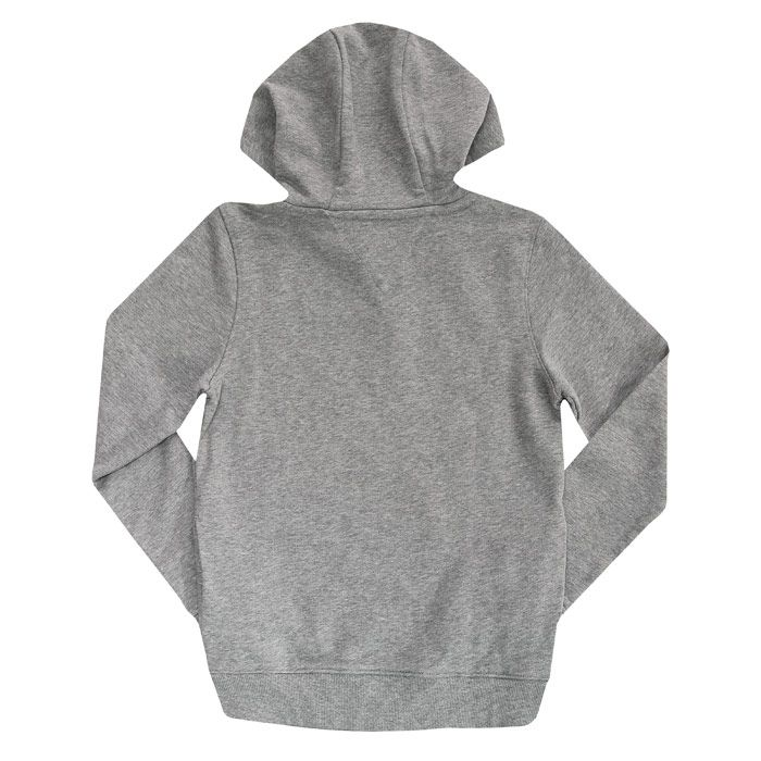 Boy's Tommy Hilfiger Junior Chest Logo Hoody in Grey Heather