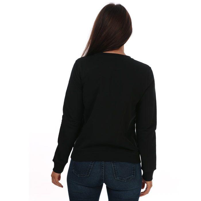 Women's Armani Vintage Lettering Sweatshirt in Black
