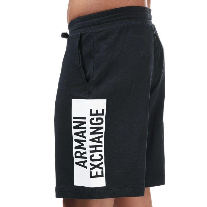 Men's Armani Sweatshirt Bermuda Shorts in Navy