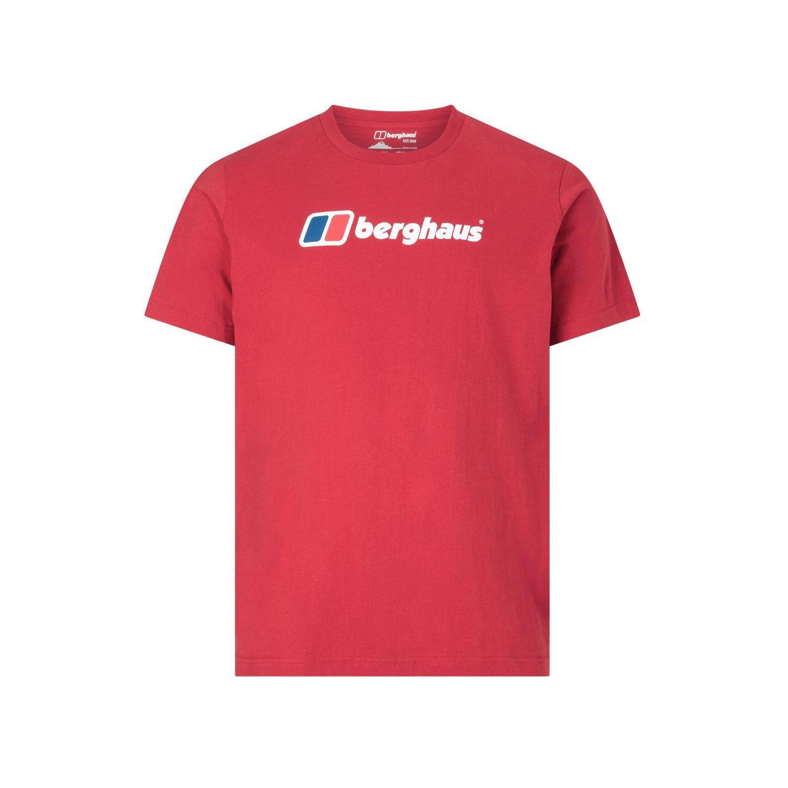 Berghaus Big Corporate Logo Mens T-Shirt Red - L
