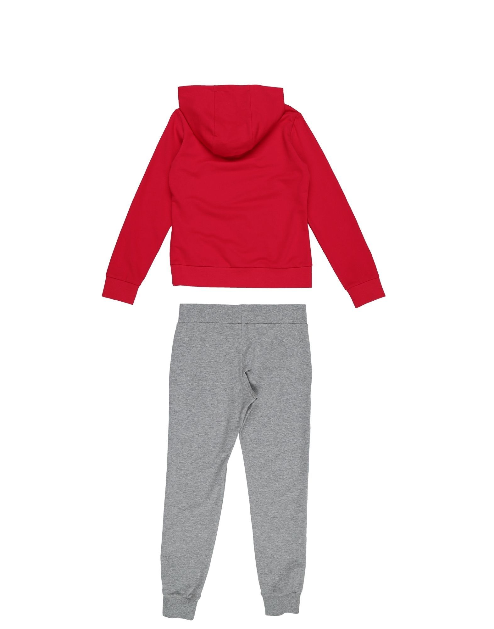 EA7 Red Cotton Hoodie And Jogger Set