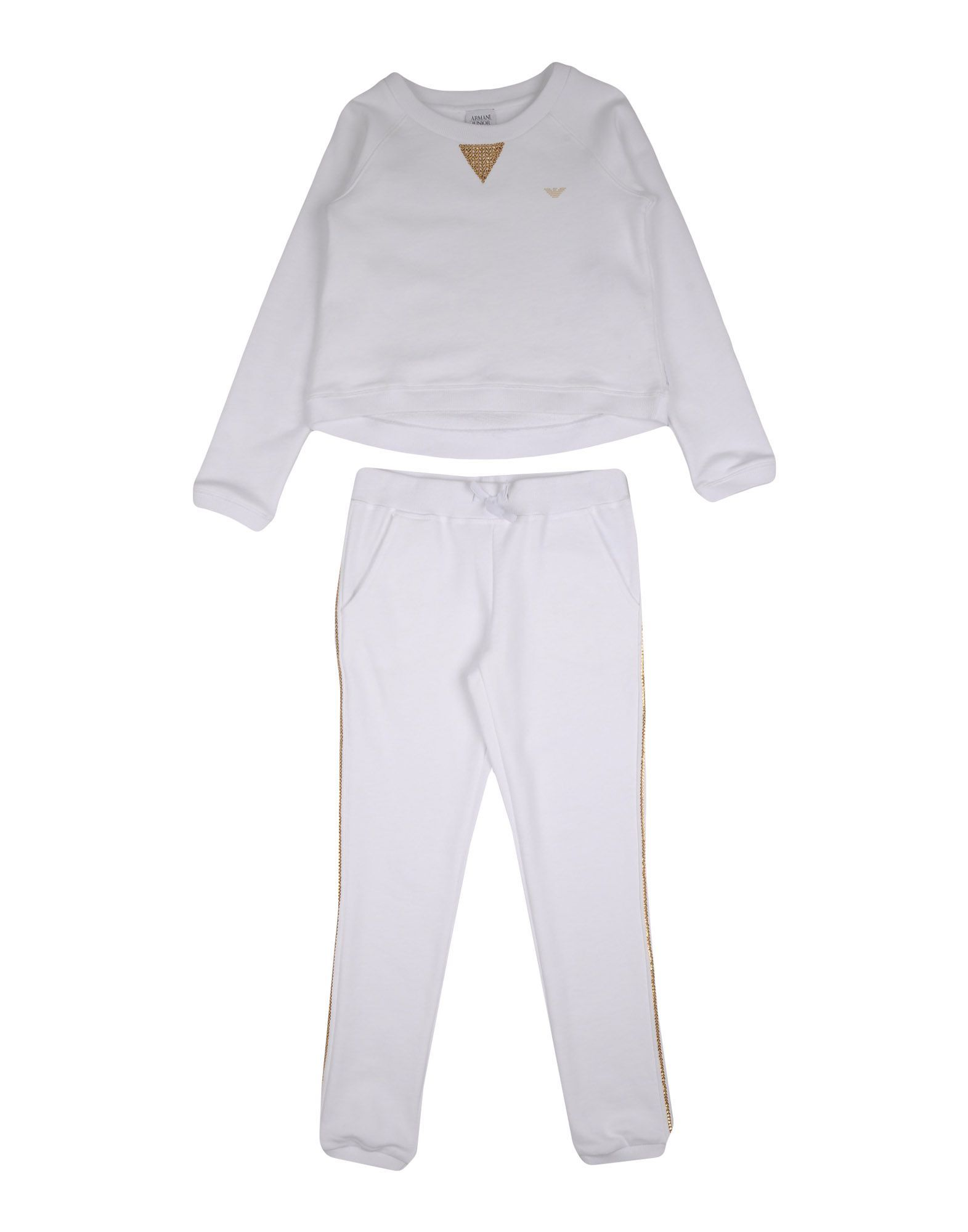 SETS Armani Junior White Girl Cotton