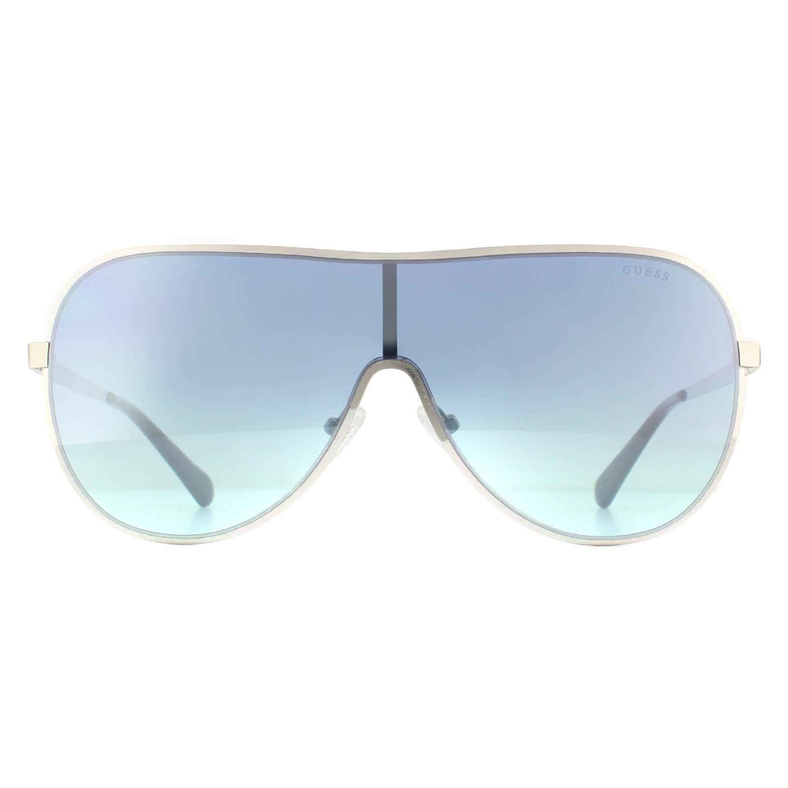Guess Sunglasses GU5200 10X Silver Blue Mirror