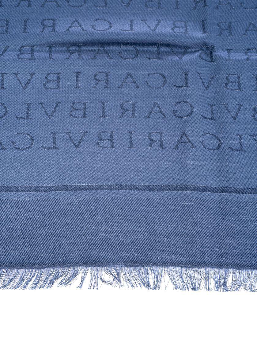 BULGARI WOMEN'S 242925 SILVER SILK SCARF
