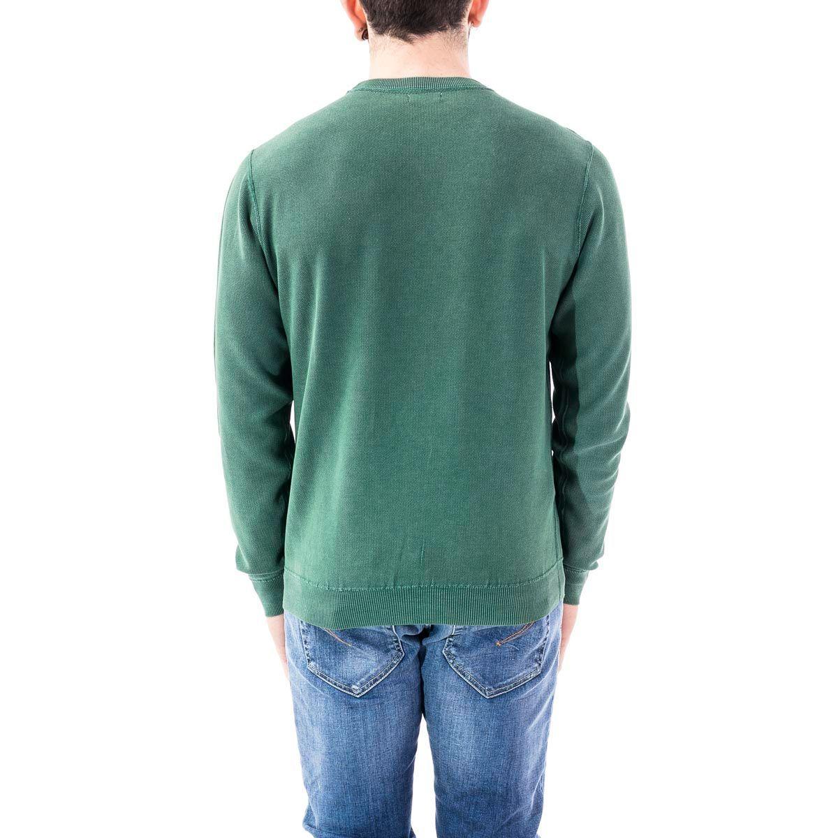 SUN 68 MEN'S K3010988 GREEN COTTON SWEATER