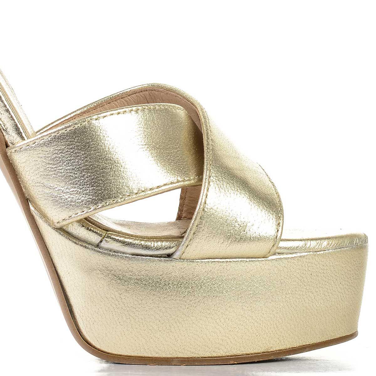Montevita Platform Sandal in Gold