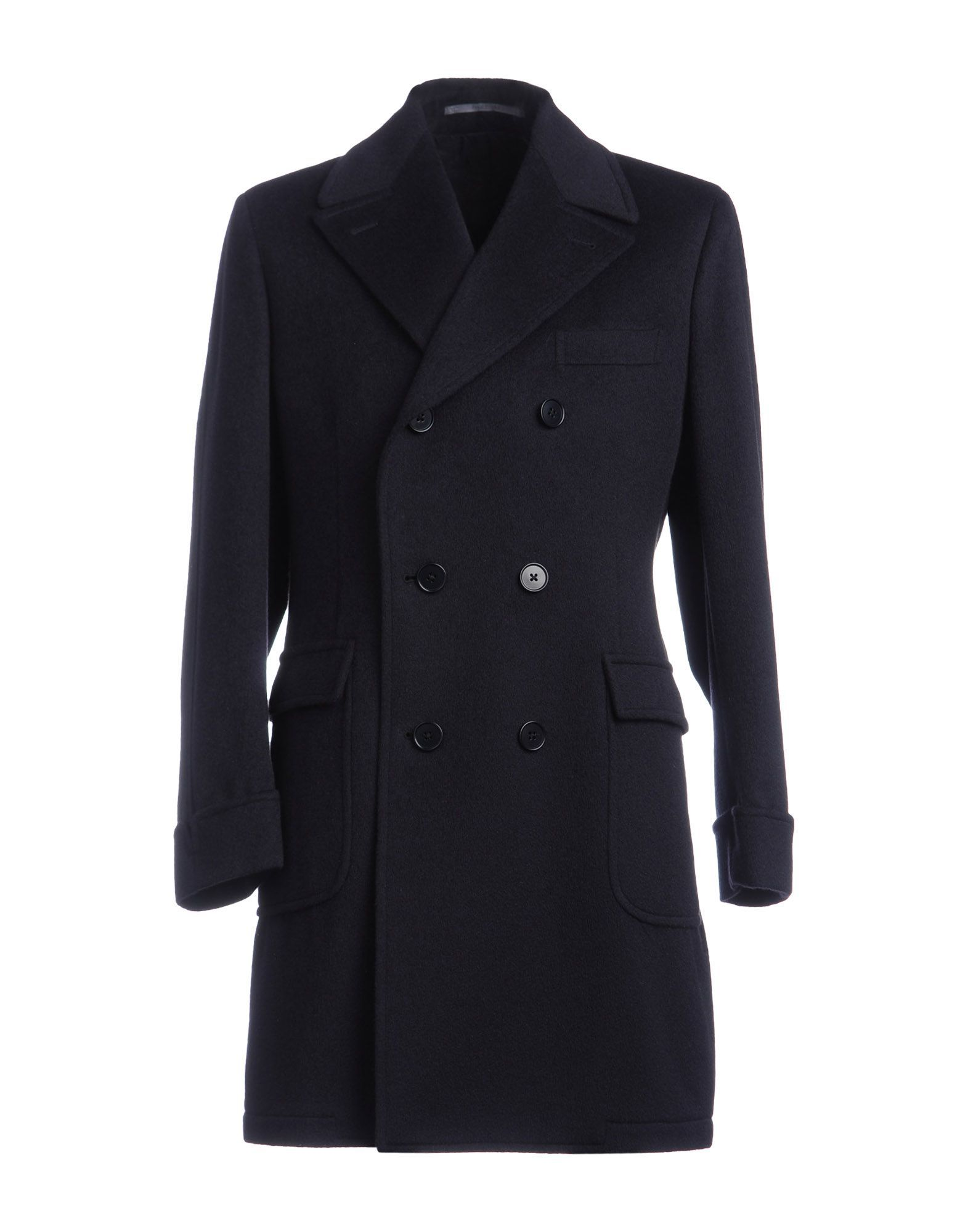 Cantarelli Dark Blue Angora Double Breasted Coat