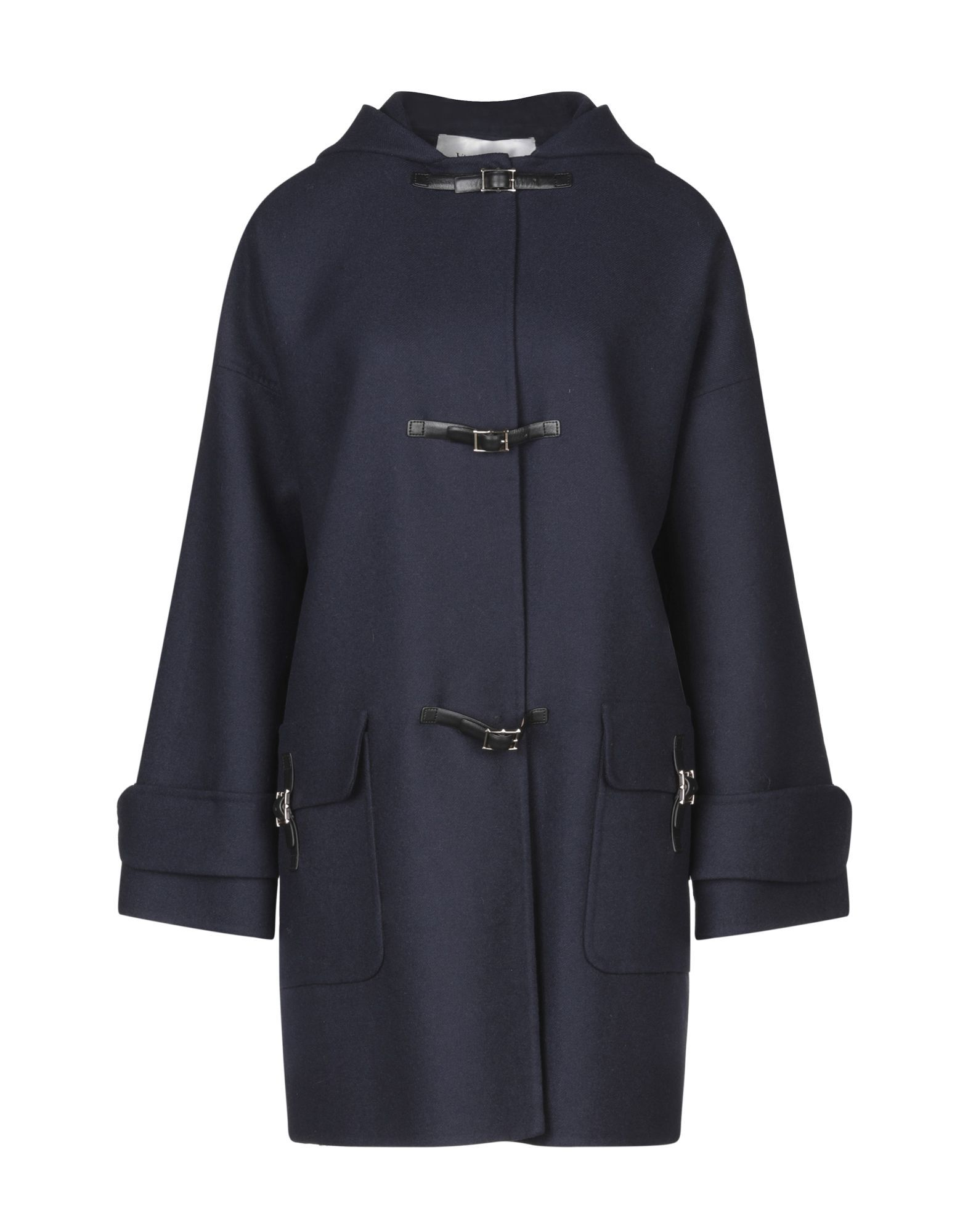 Valentino Dark Blue Virgin Wool Overcoat