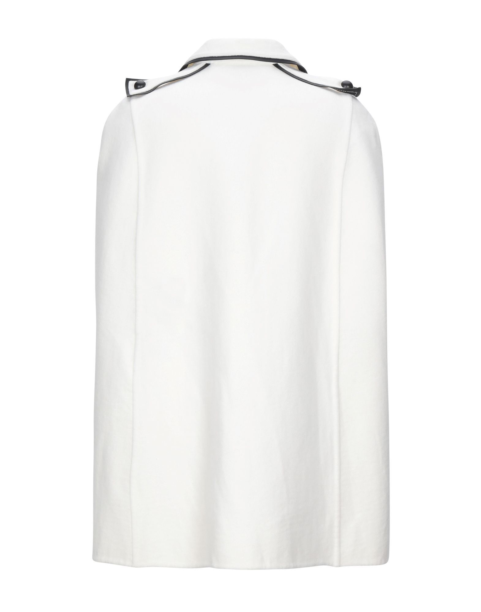 Valentino White Contrast Virgin Wool Cape