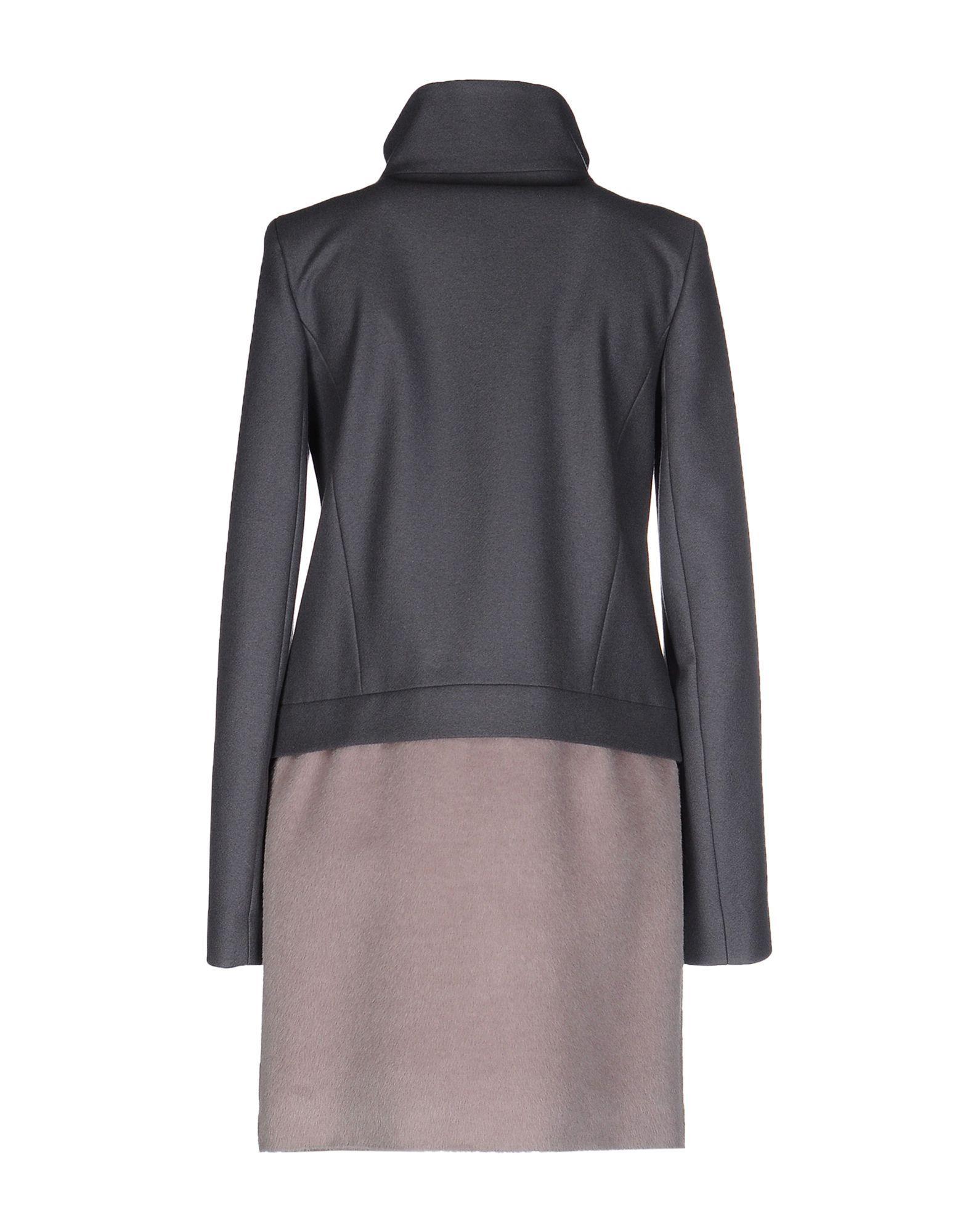 Patrizia Pepe Grey Wool Coat