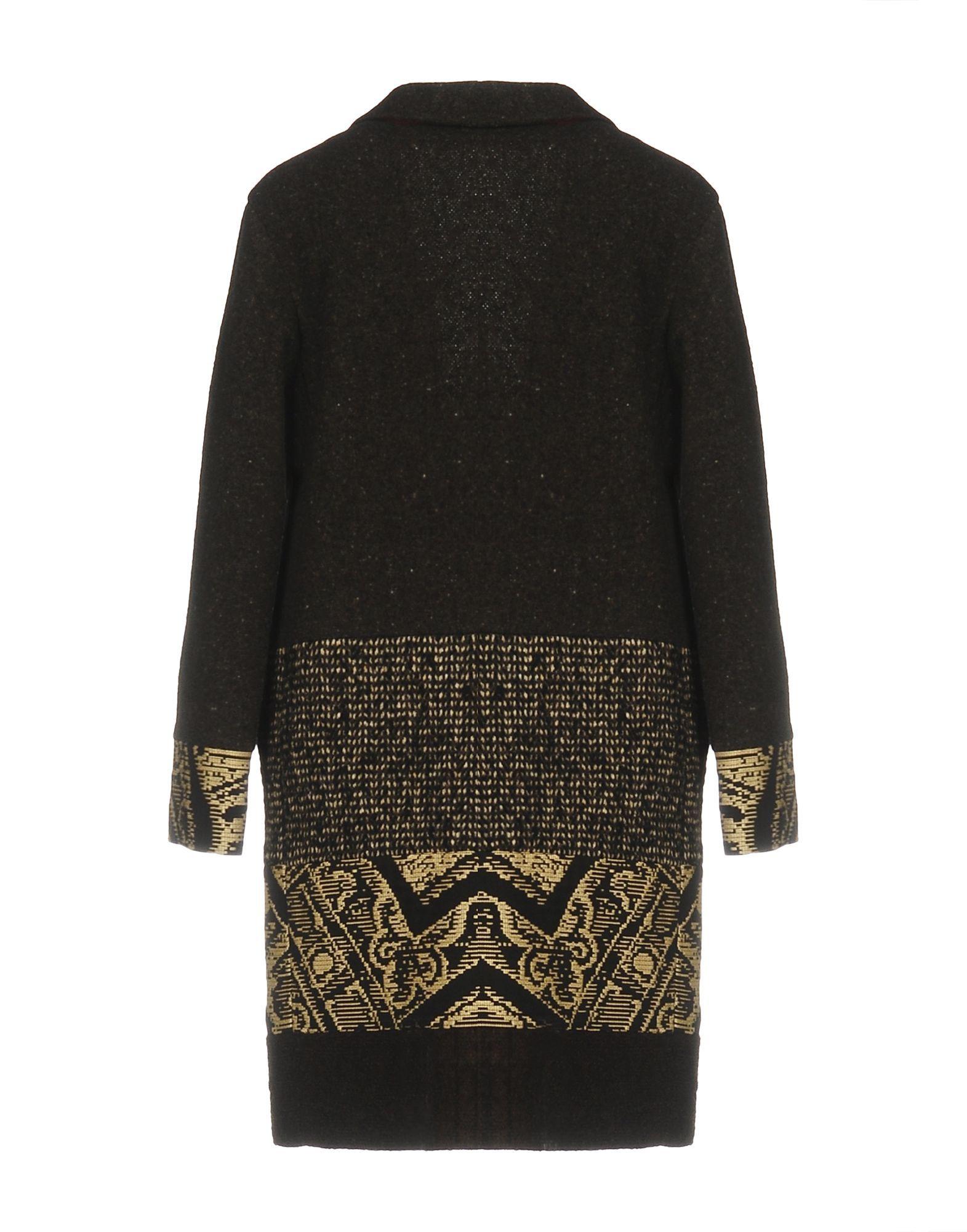 Etro Dark Brown Wool Coat