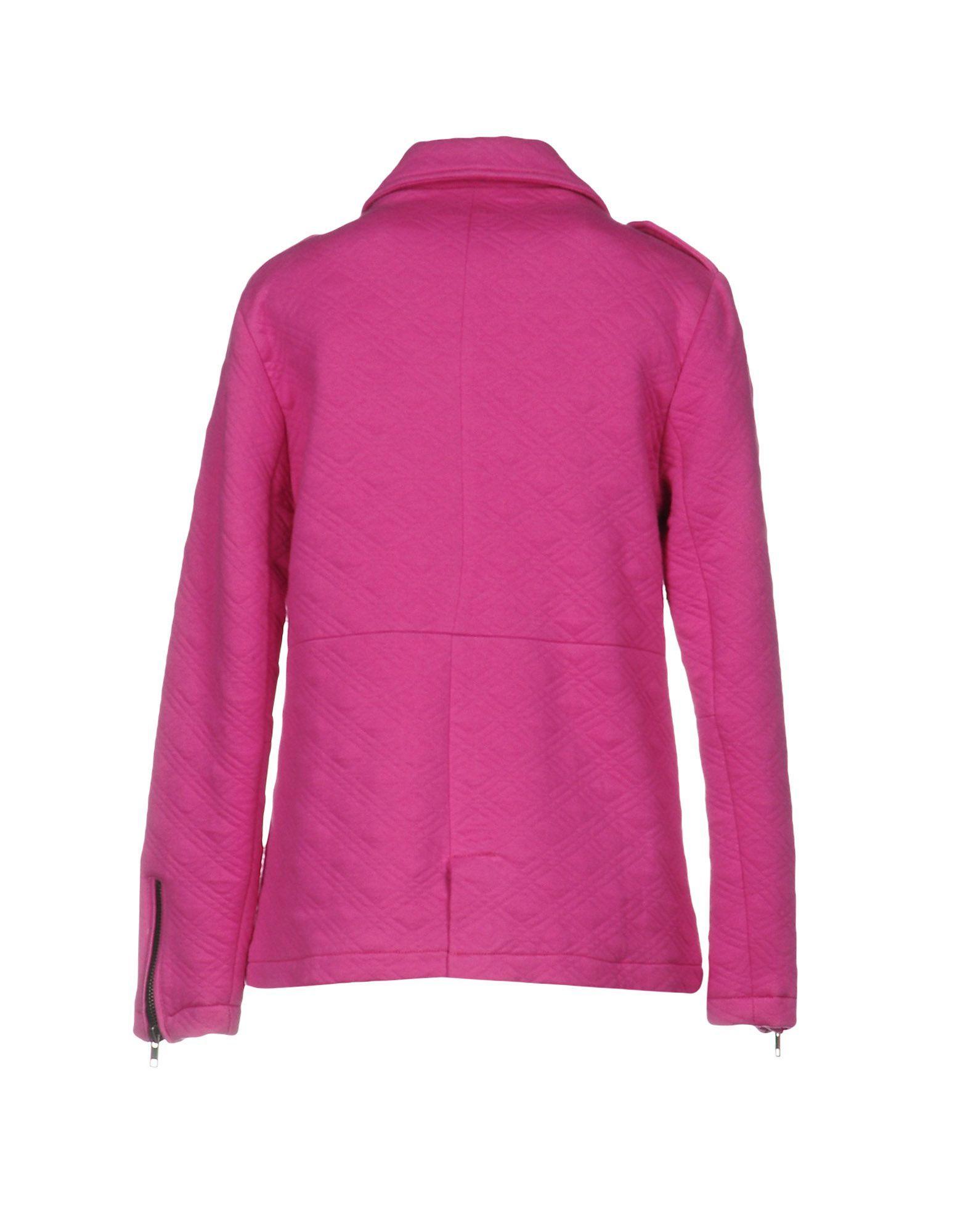 Pepe Jeans Fuchsia Cotton Biker Jacket