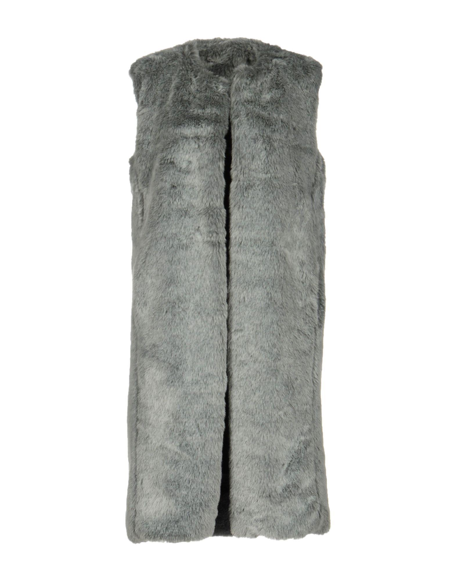 Jijil Light Grey Faux Fur Gilet