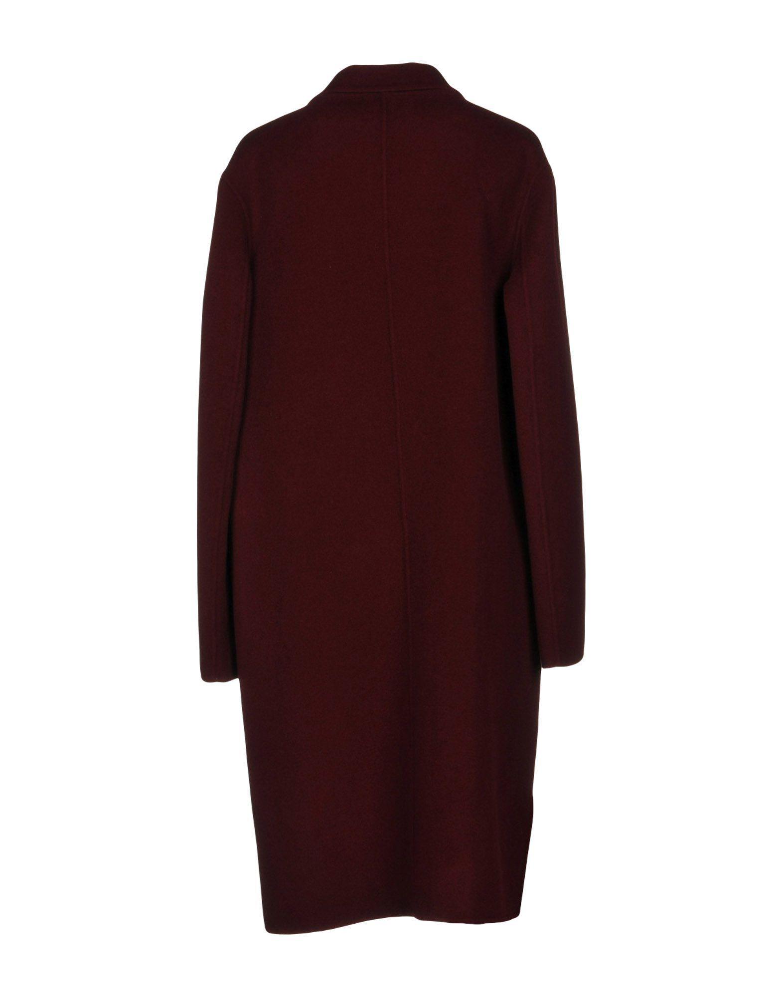 Pinko Maroon Wool Coat