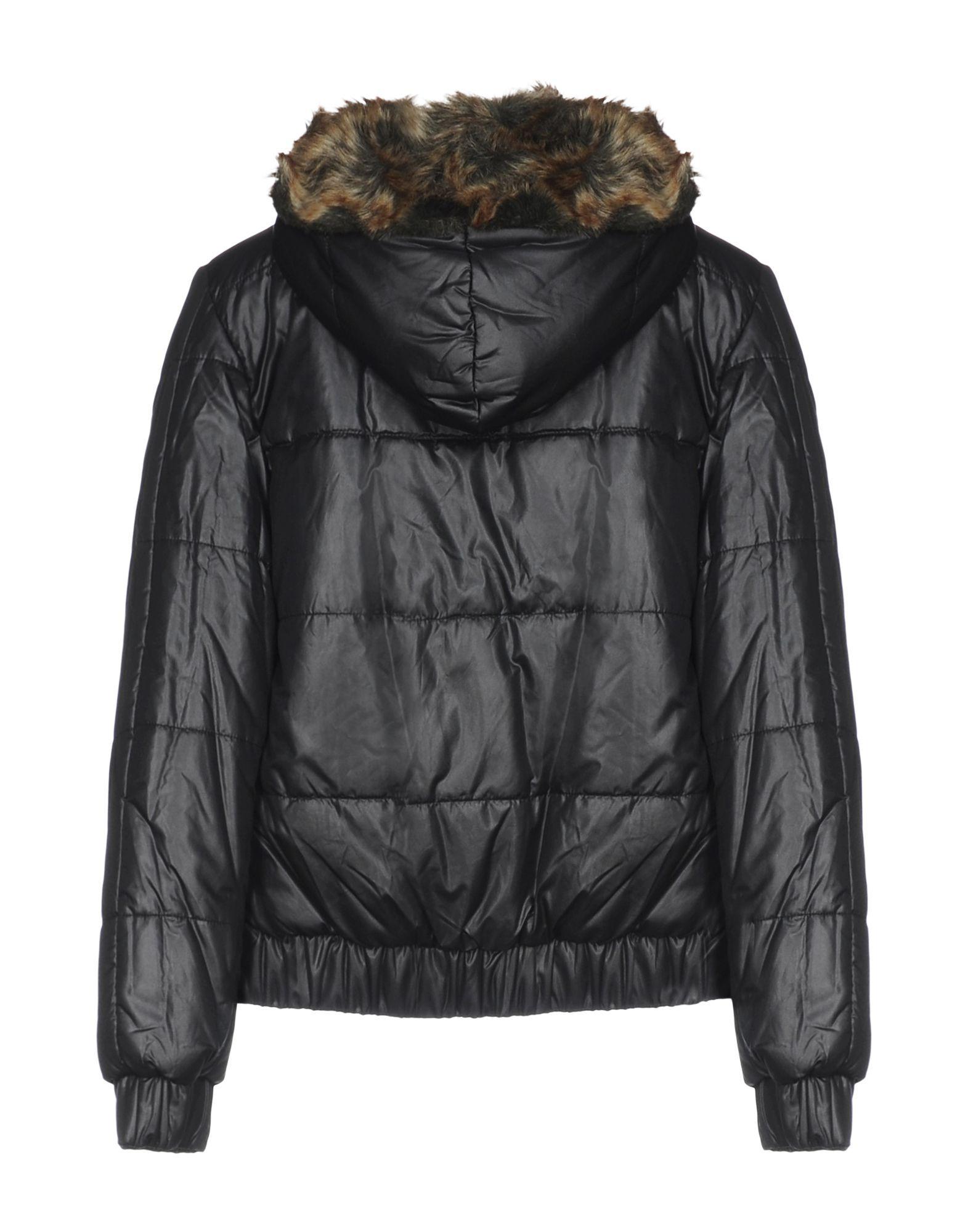 Manila Grace Denim Black Techno Fabric Padded Jacket