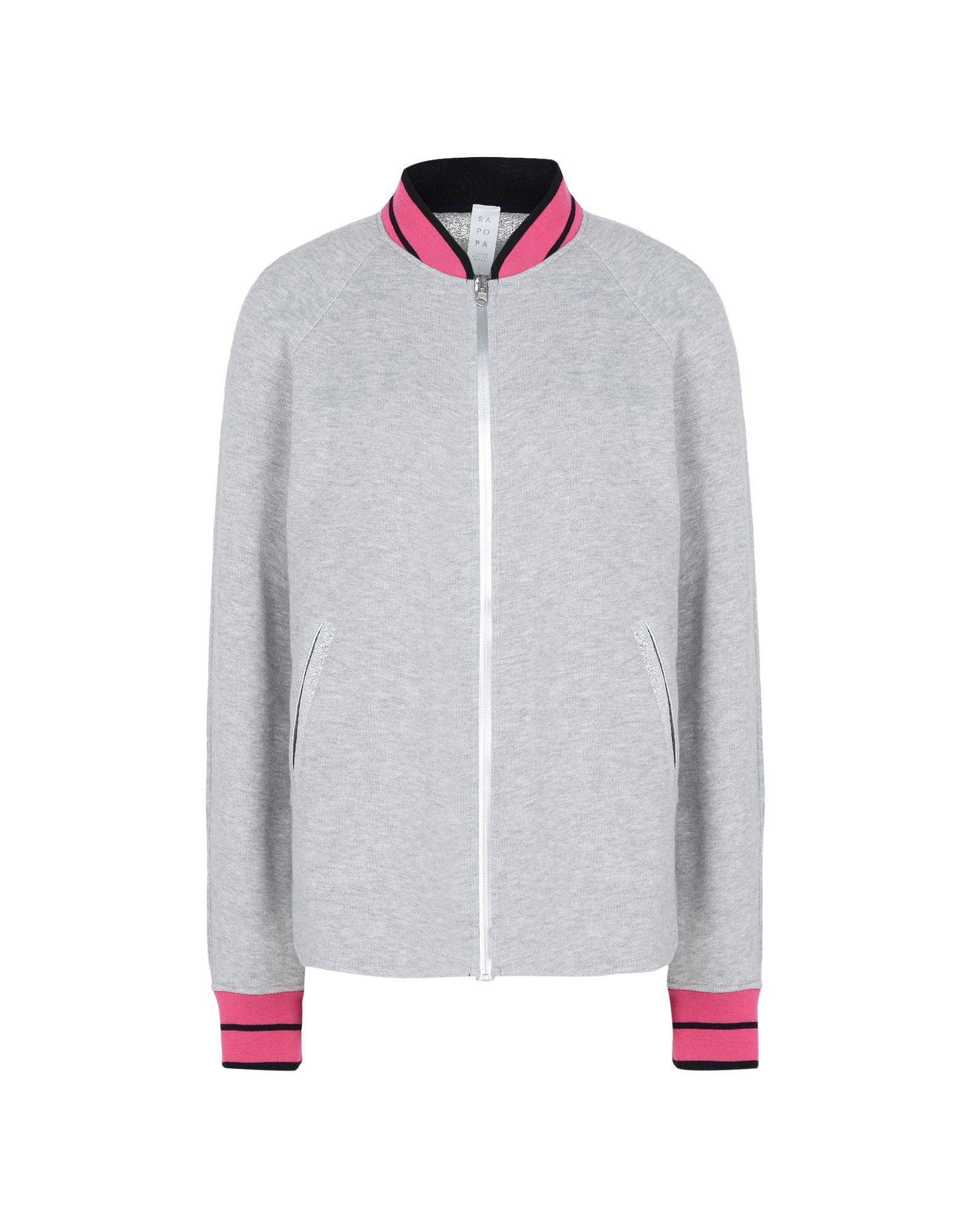 Sapopa Light Grey Cotton Bomber Jacket