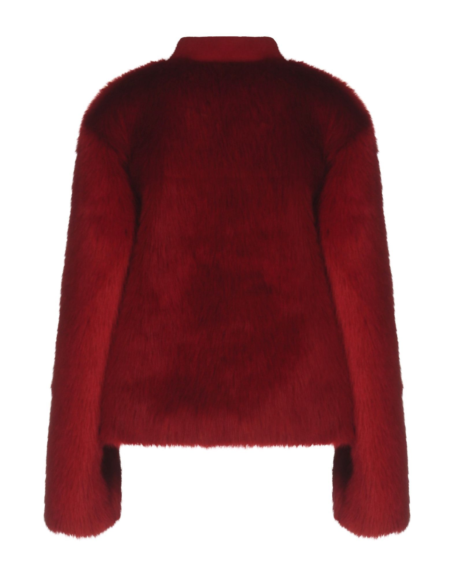 Giamba Red Faux Fur Jacket