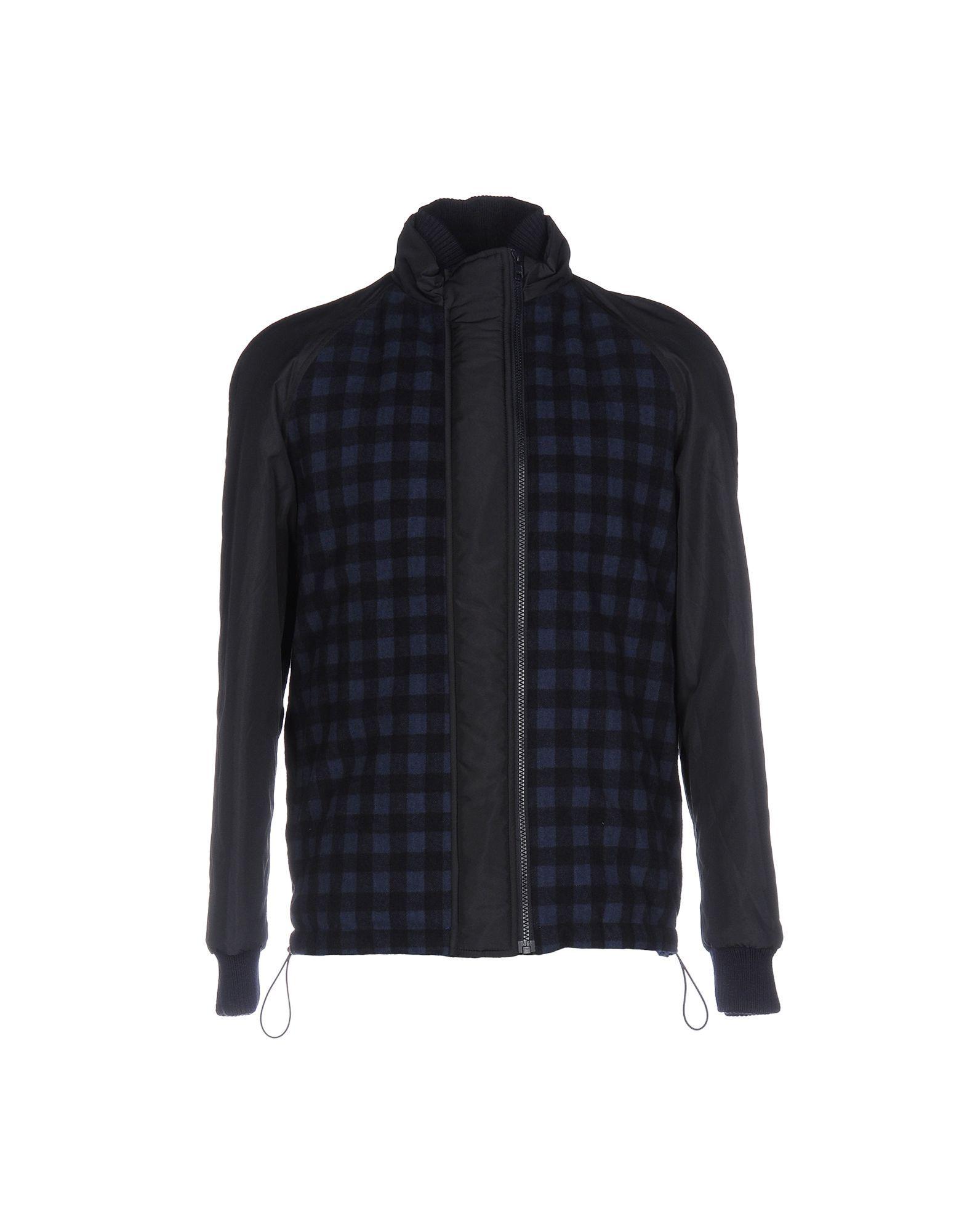 Daniele Alessandrini Homme Dark Blue Check Wool Jacket