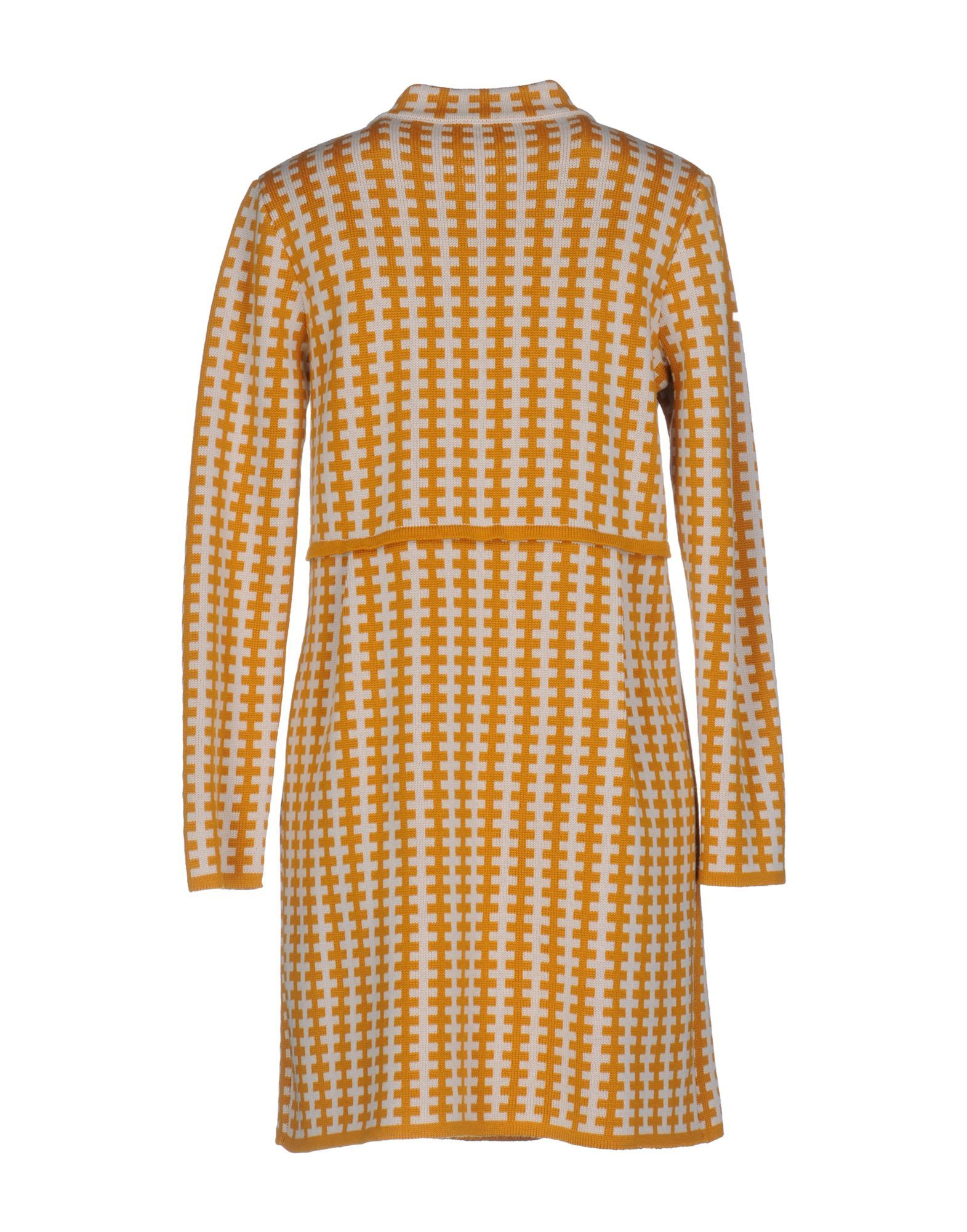 El La� Lago Di Como Ochre Merino Wool Double Breasted Coat