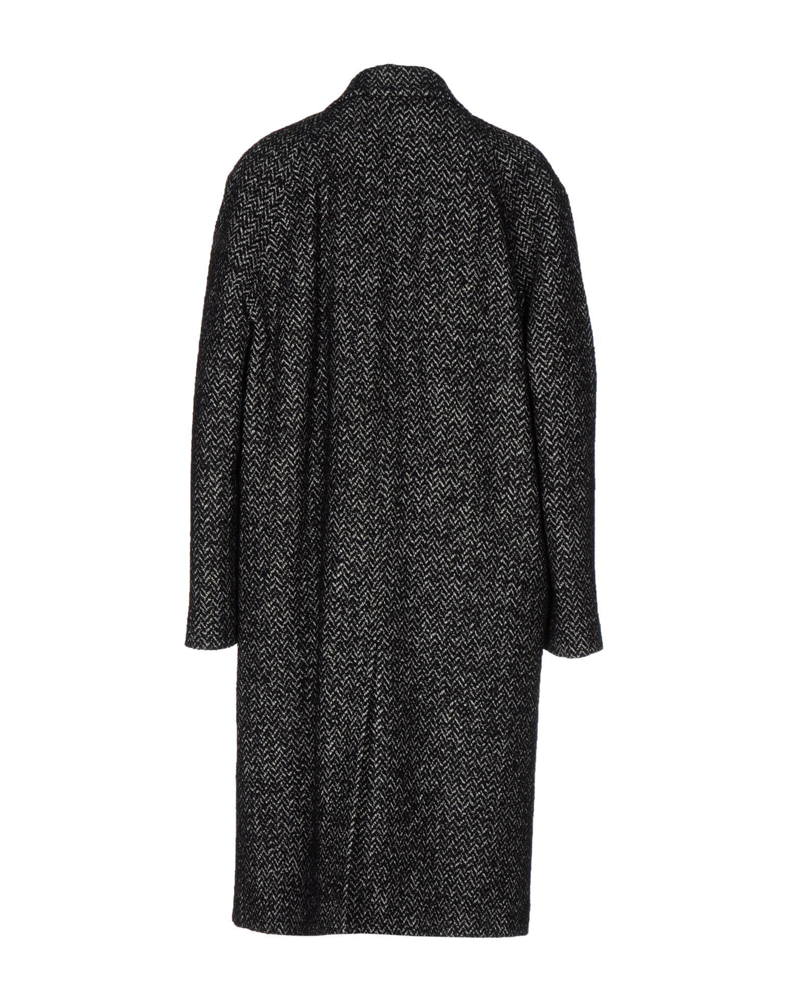 Dolce & Gabbana Black Virgin Wool Boucle Overcoat