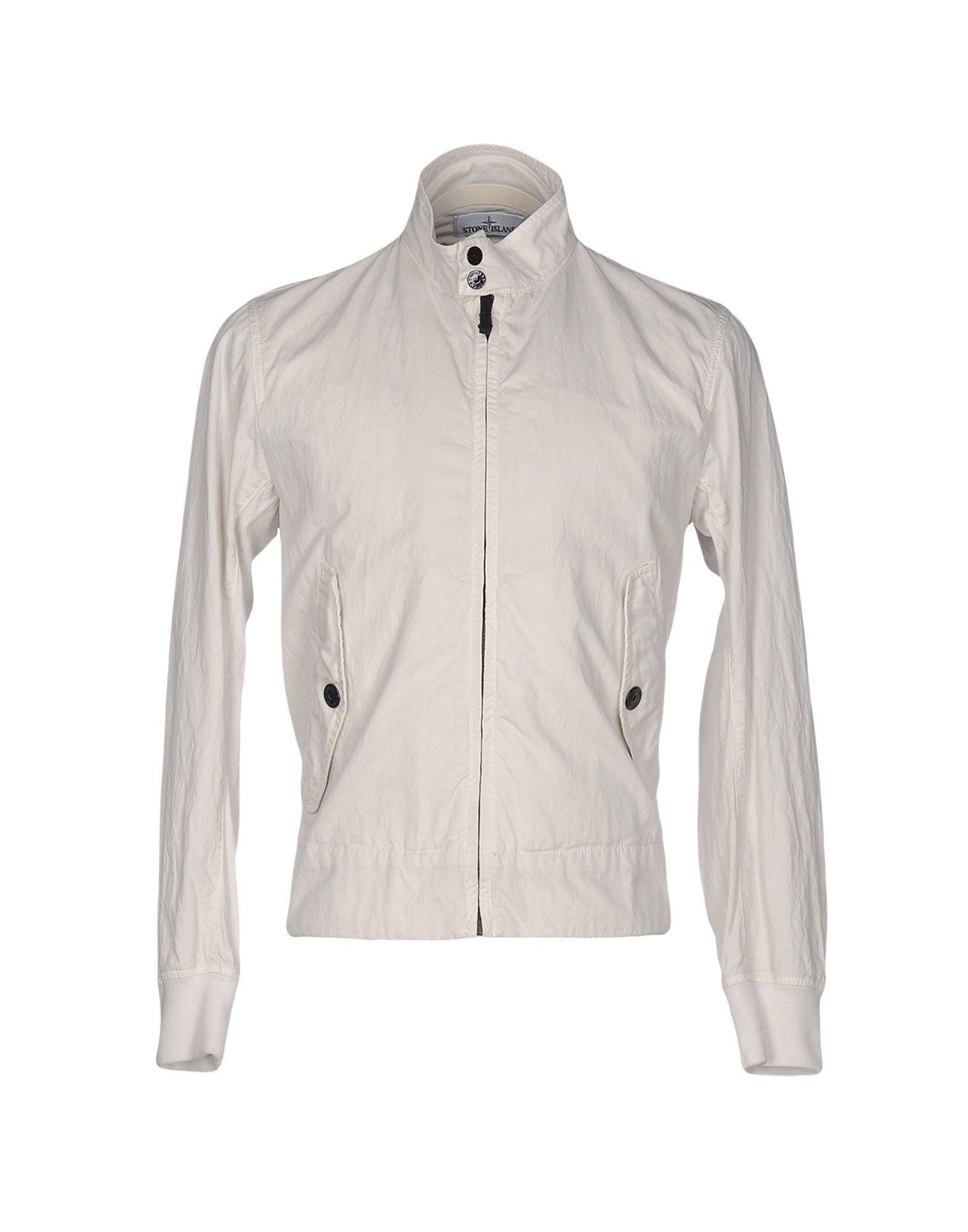 Stone Island Light Grey Cotton Jacket