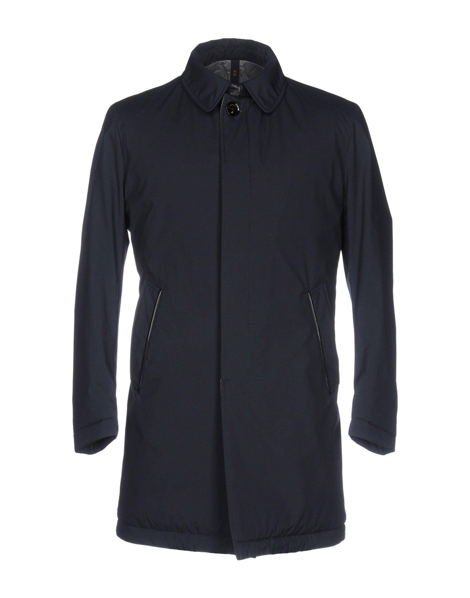 COATS & JACKETS Tombolini Dark blue Man Polyester