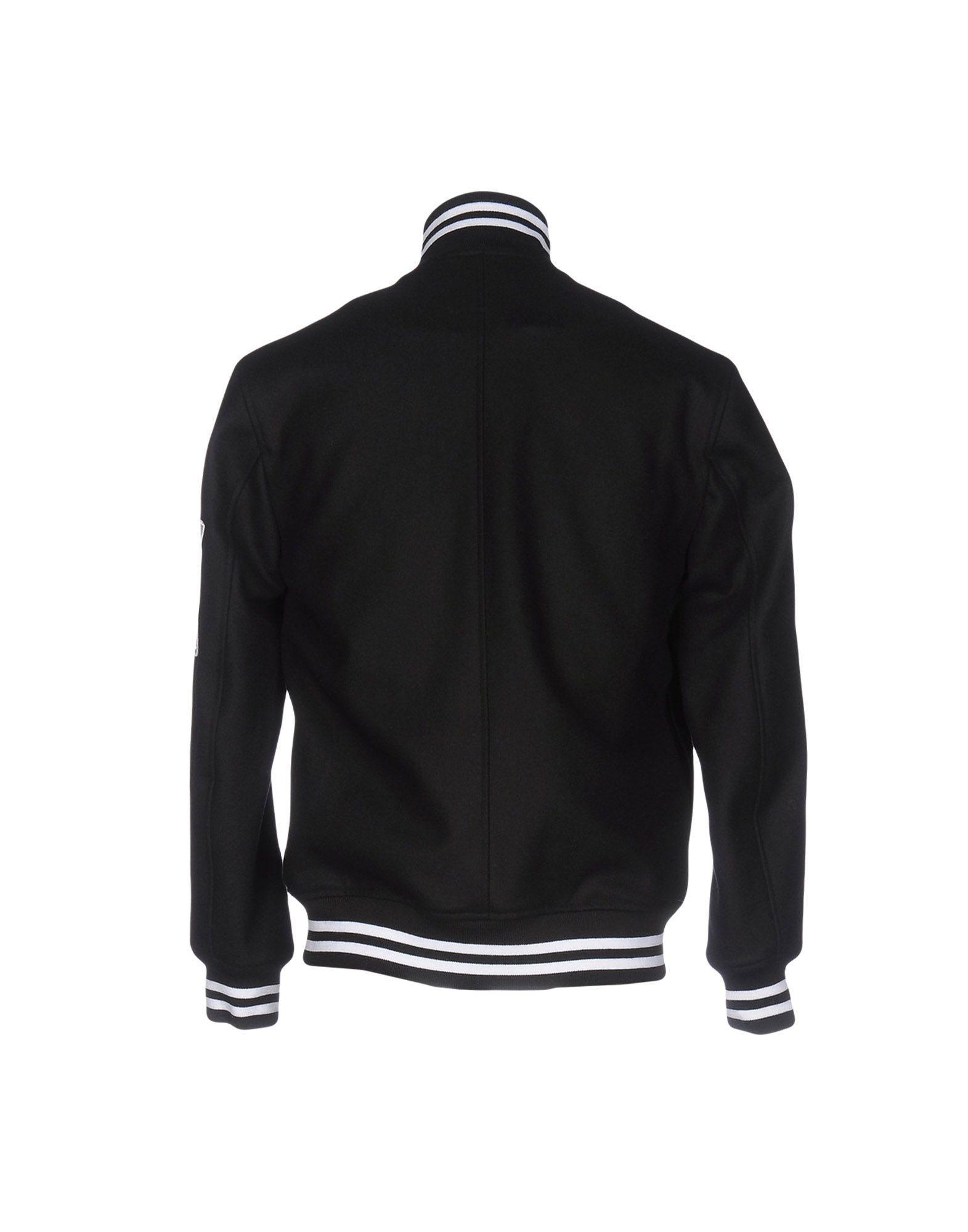 Nicopanda Black Wool Bomber Jacket