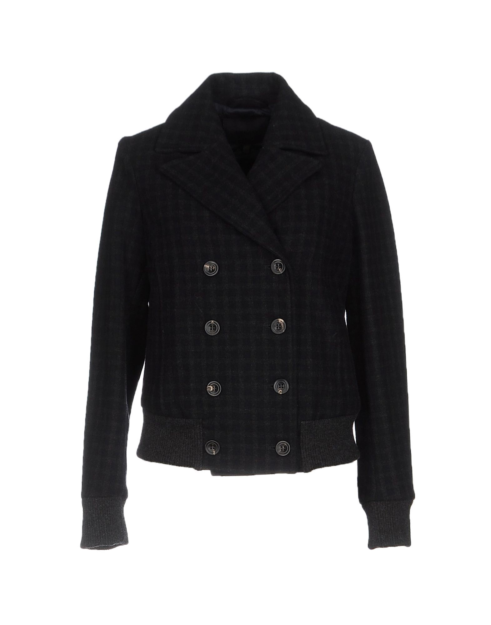 Siviglia Dark Blue Wool Double Breasted Jacket