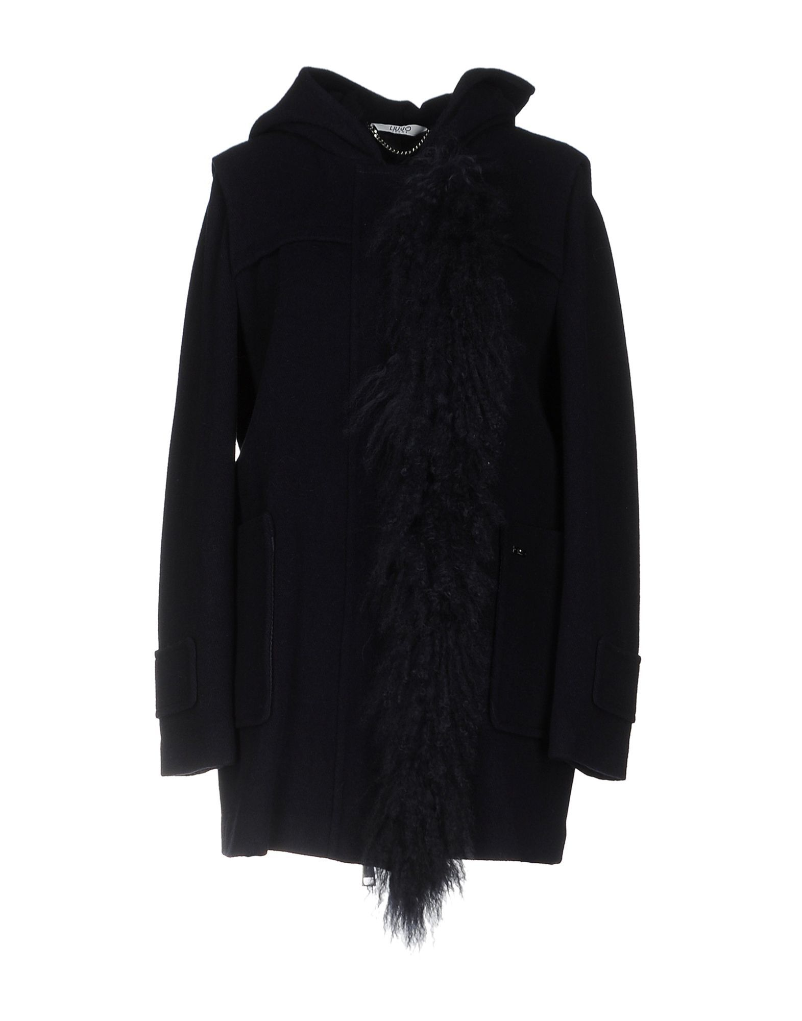 Liu Jo Dark Blue Wool Coat