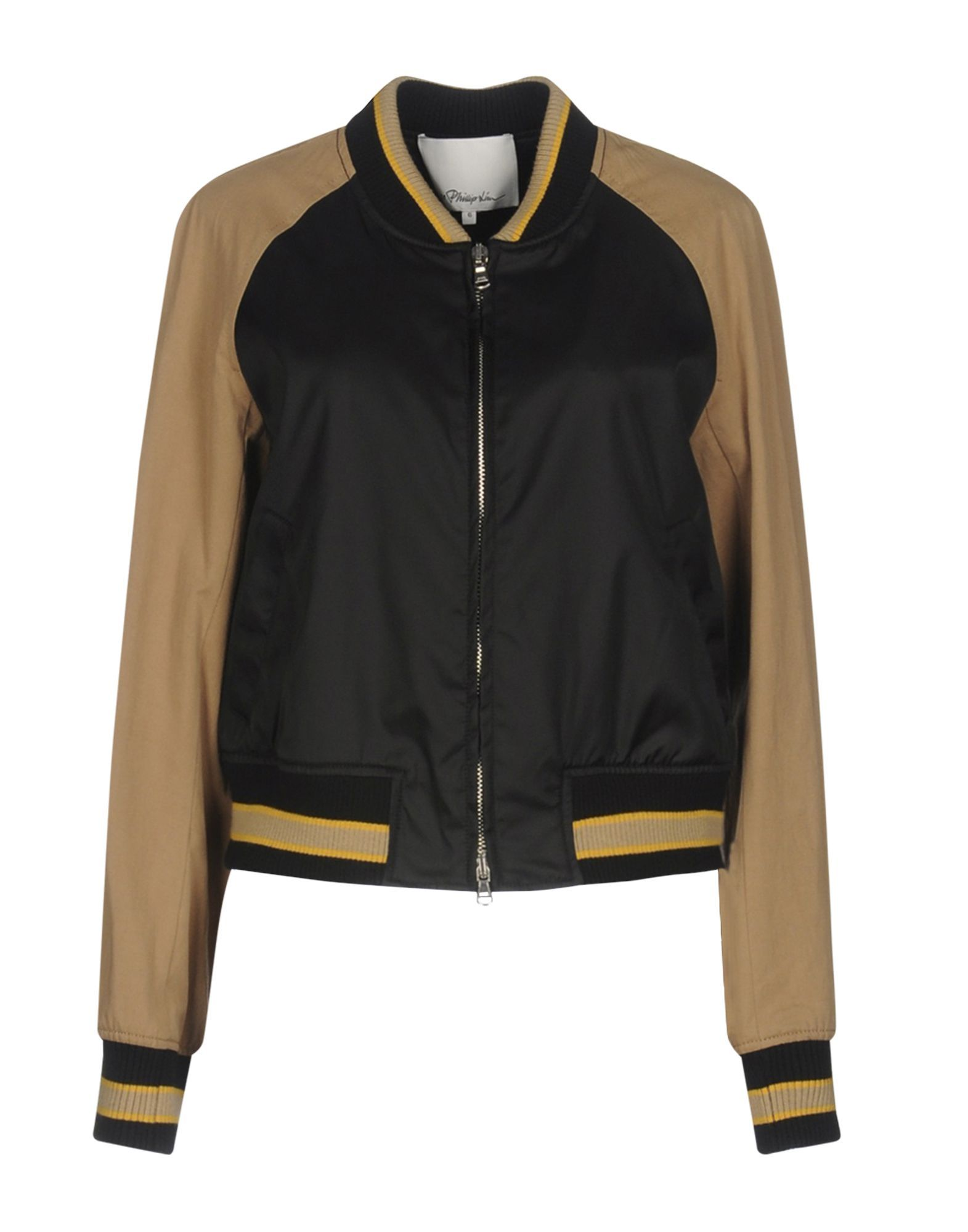3.1 Phillip Lim Black Techno Fabric Bomber Jacket