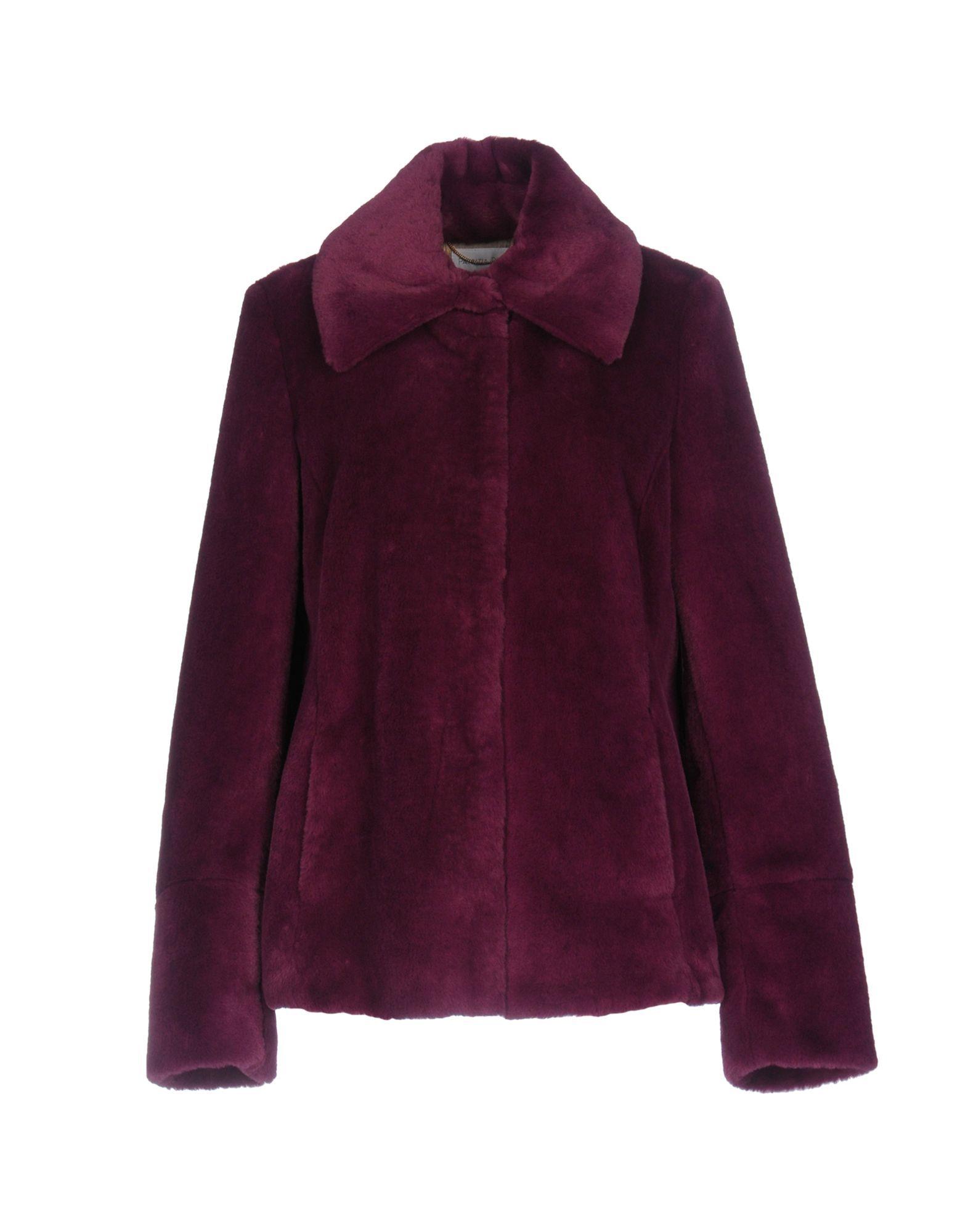 Patrizia Pepe Garnet Faux Fur Jacket