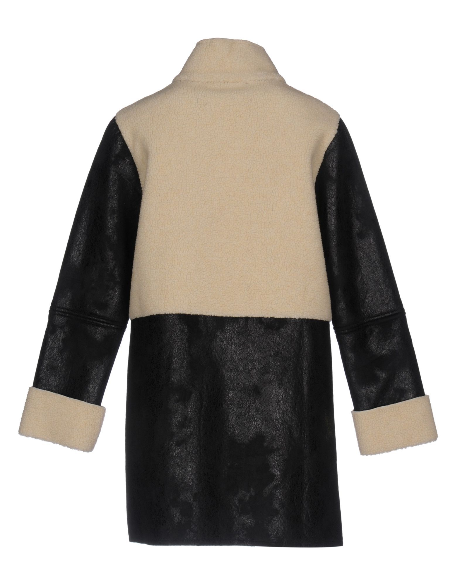 Jucca Black Faux Fur Overcoat