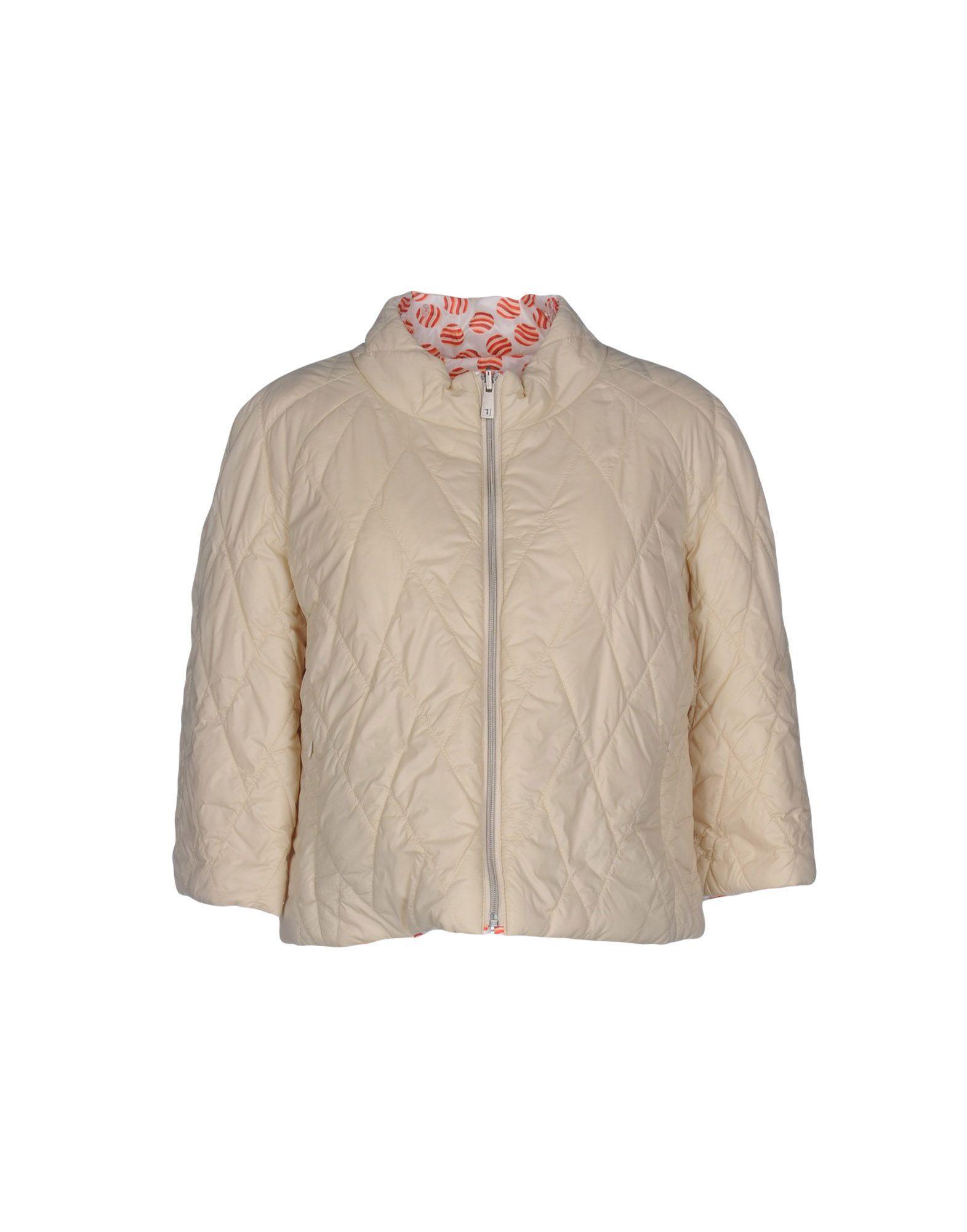 Tru Trussardi Beige Techno Fabric Quilted Jacket