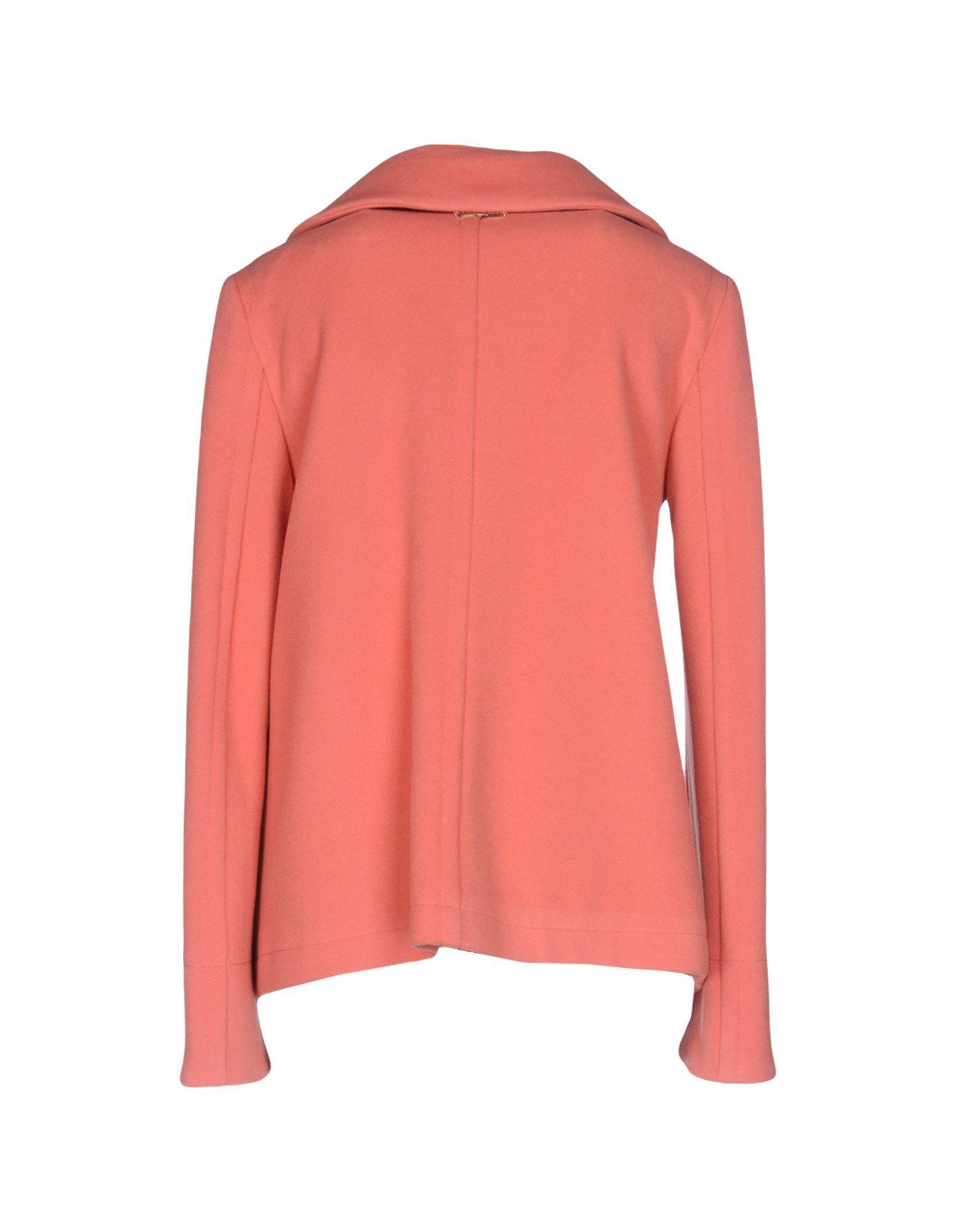 Twinset Salmon Pink Virgin Wool Jacket