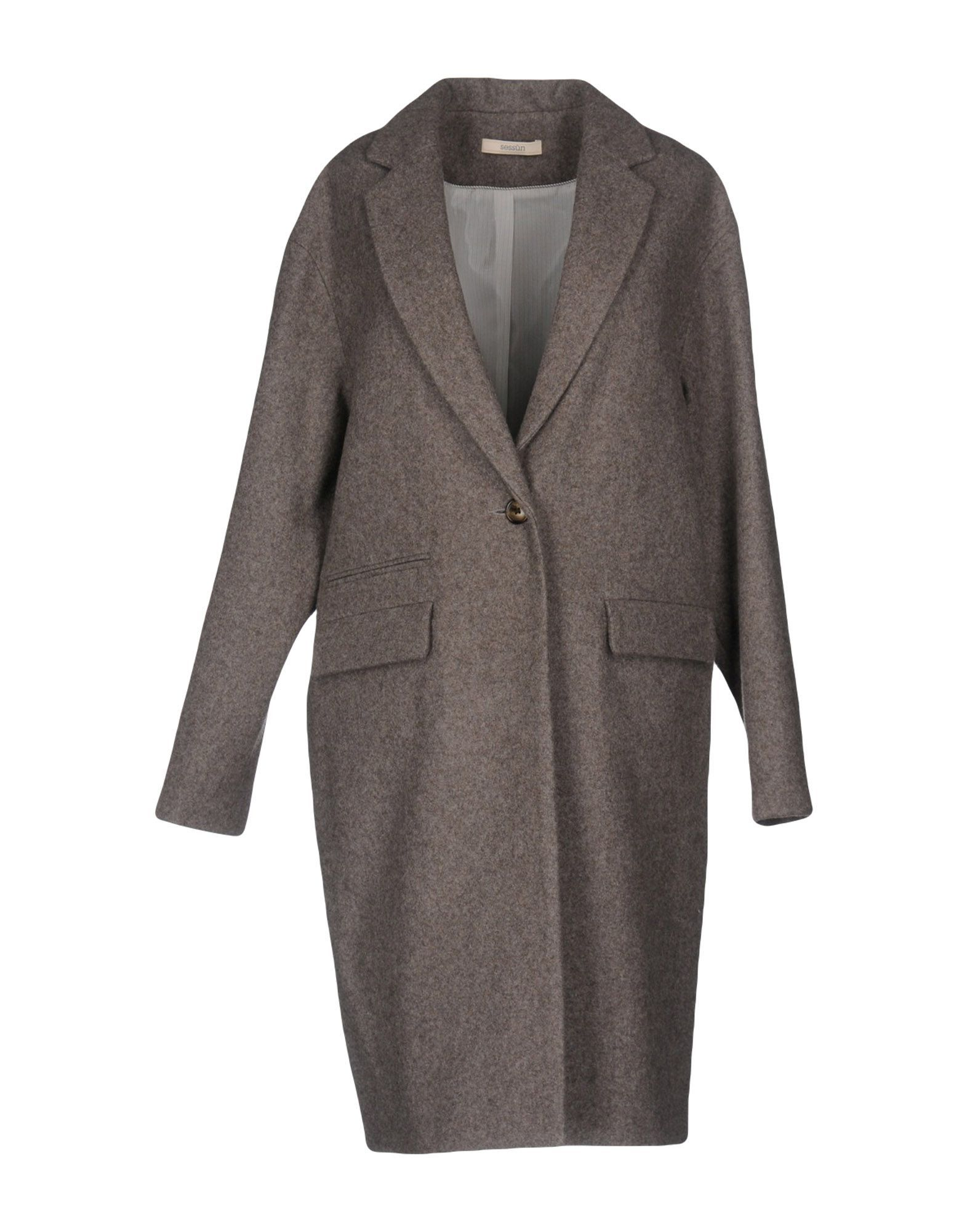 Sessun Khaki Wool Overcoat