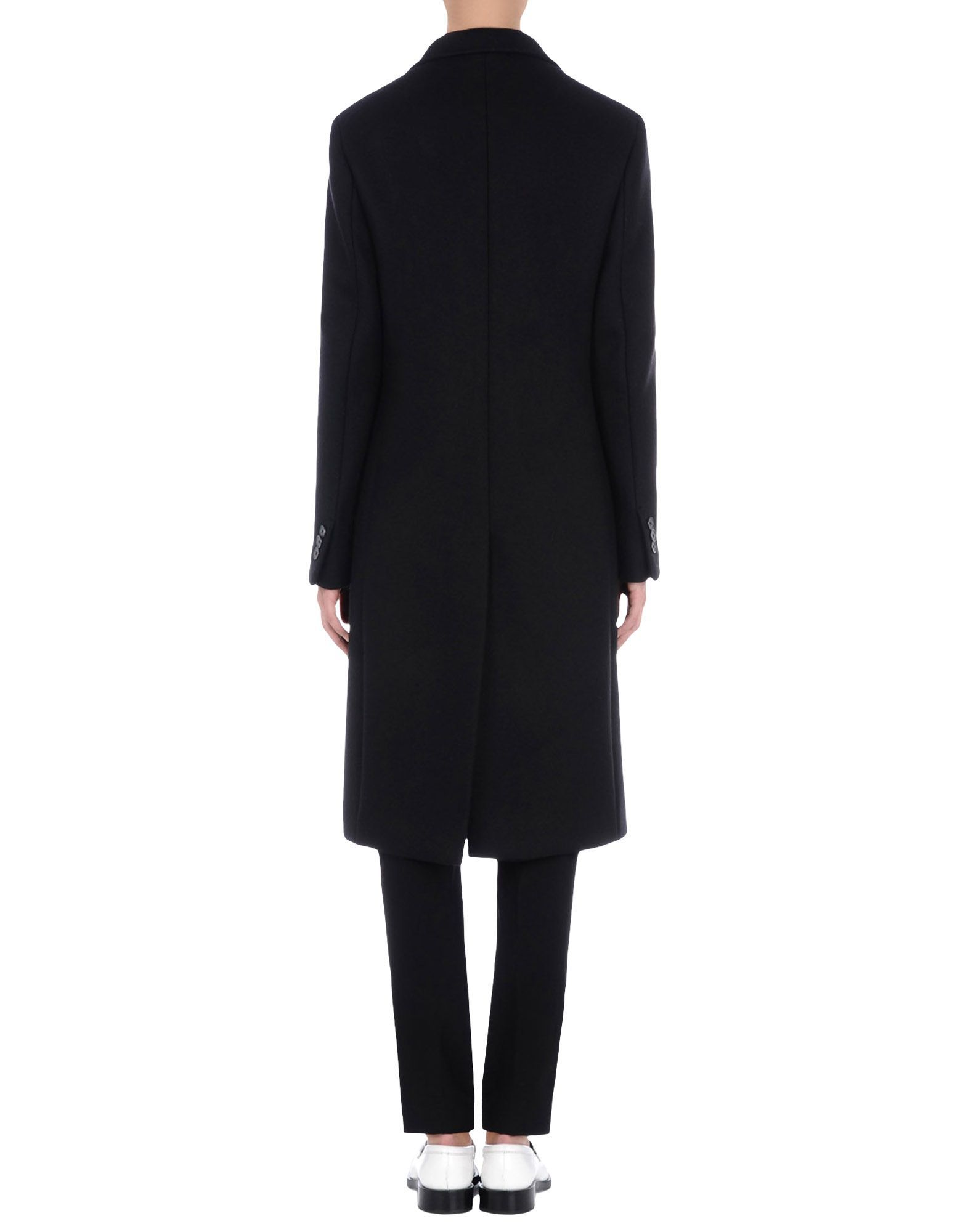 Jil Sander Black Double Breasted Overcoat