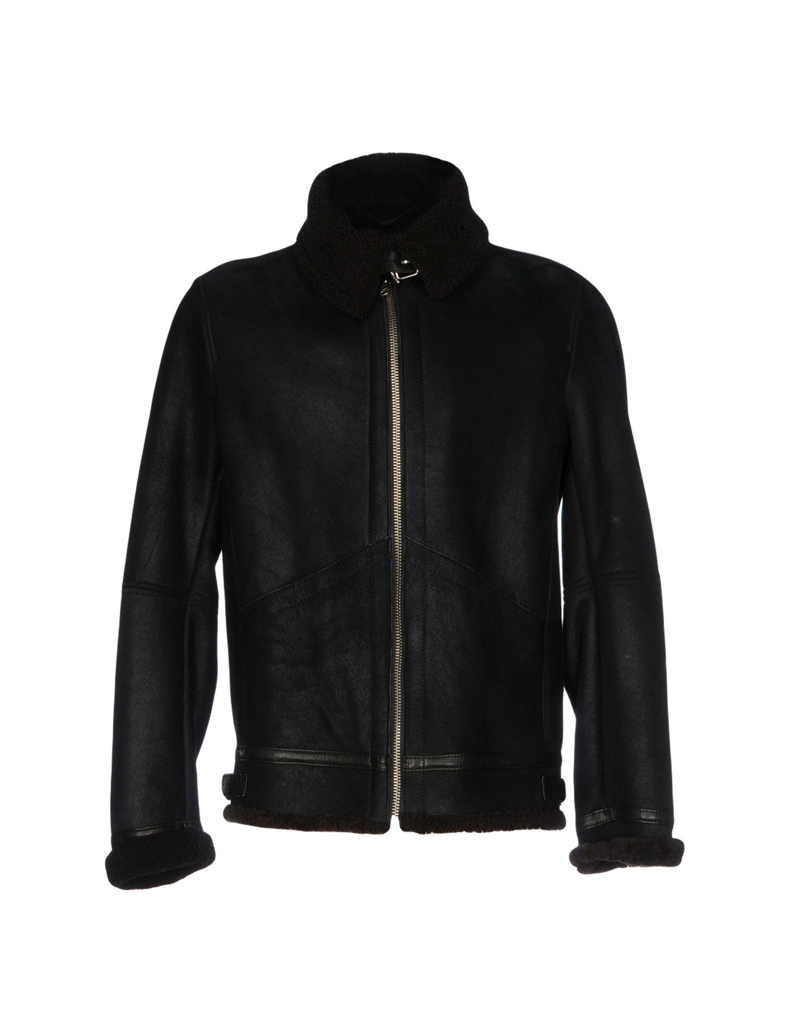 Dondup Black Lambskin Jacket