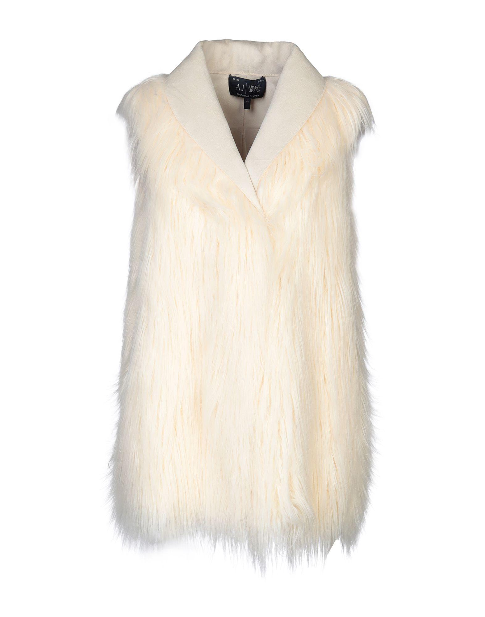 Armani Jeans Ivory Faux Fur Gilet