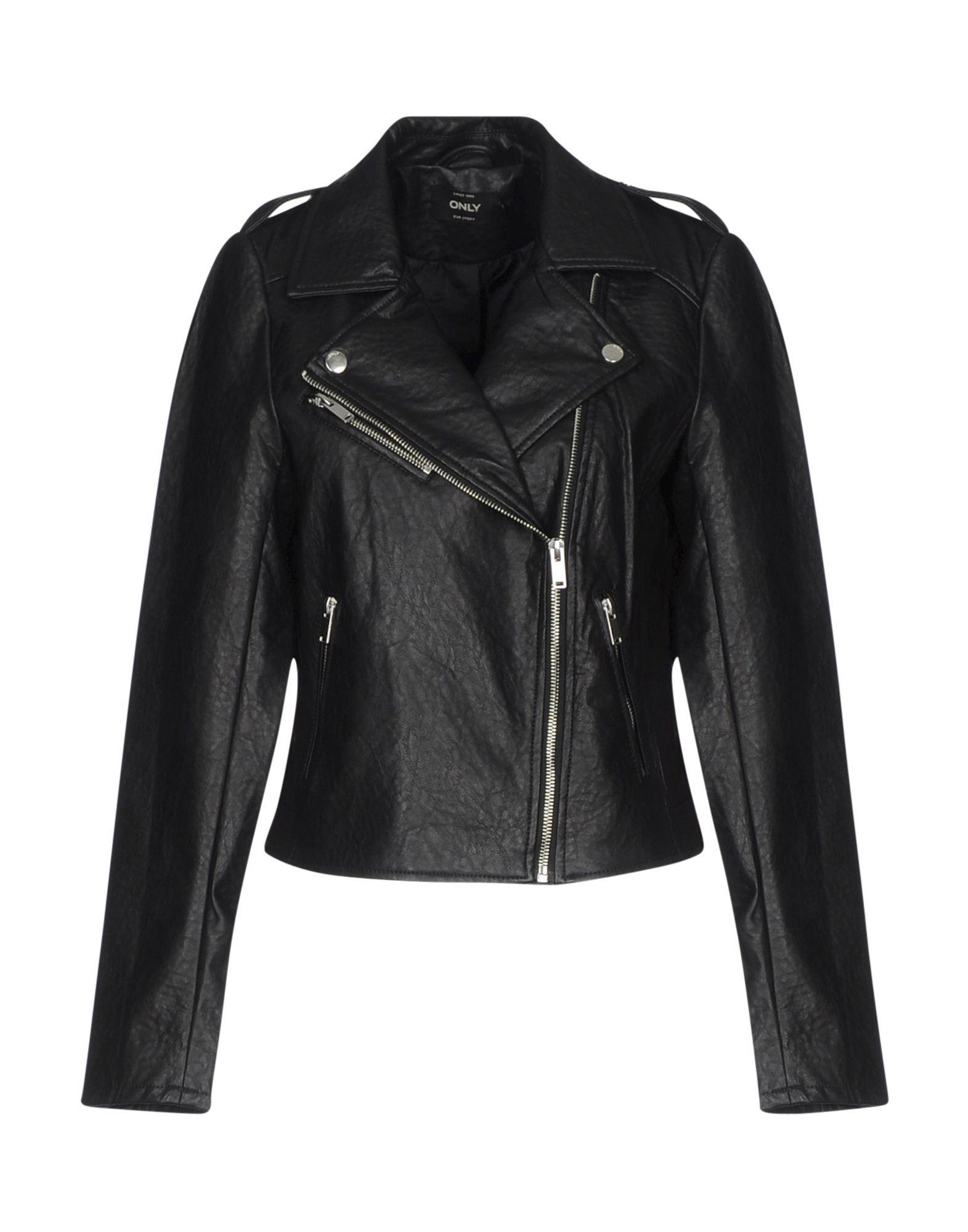 Only Black Faux Leather Biker Jacket