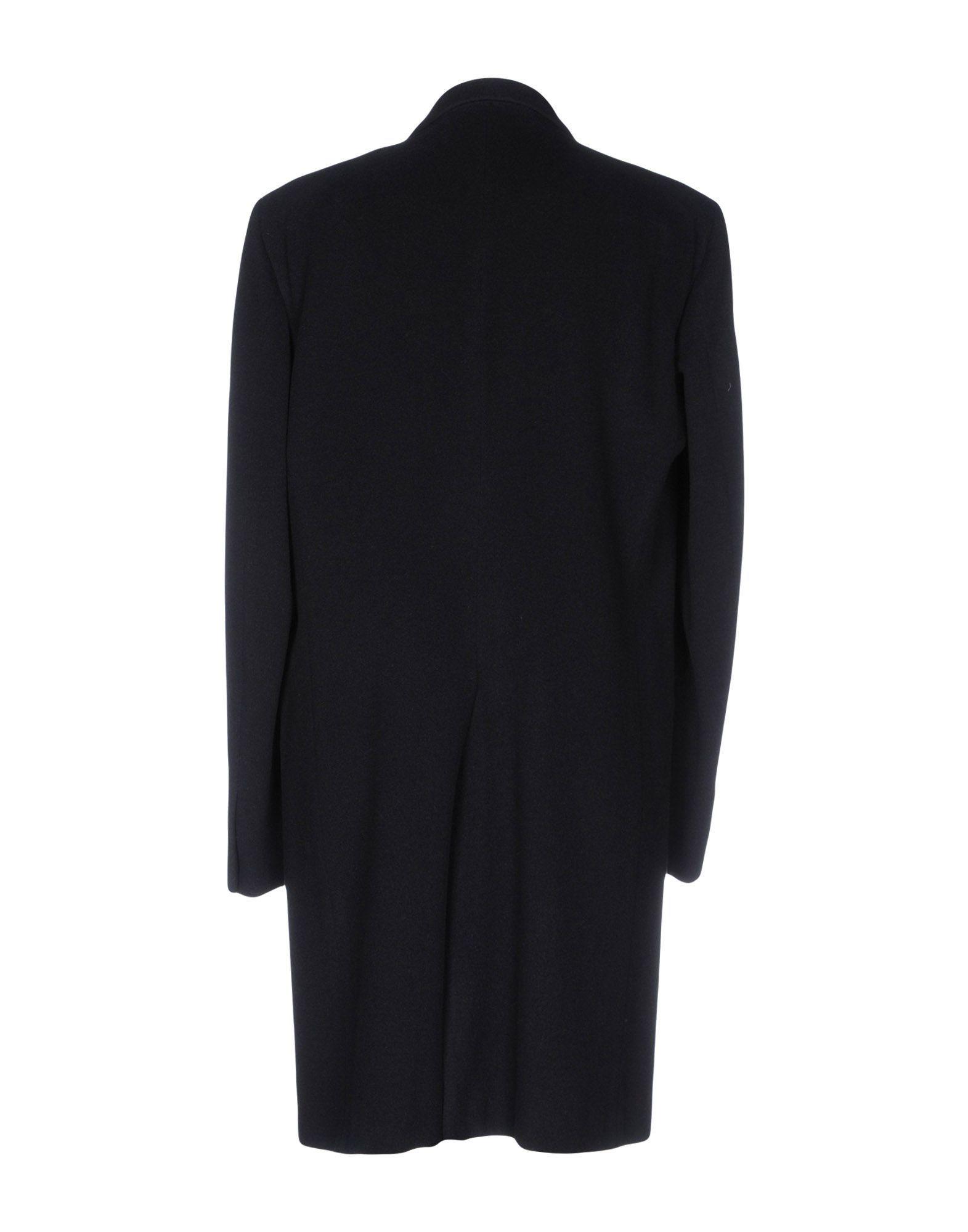 Jil Sander Dark Blue Wool Overcoat